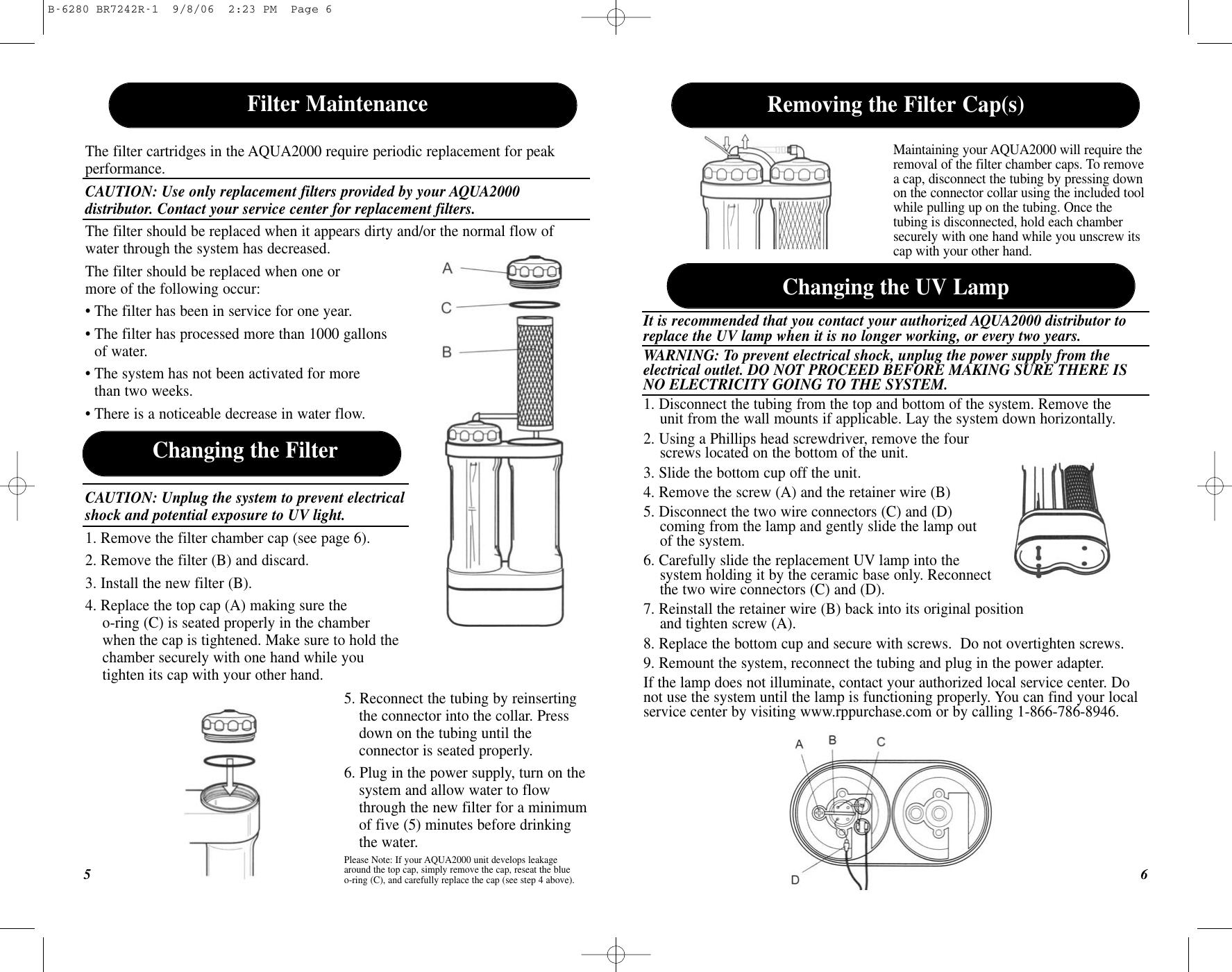Puratron Products Aqua2000 Users Manual B 6192 BR6908R 1