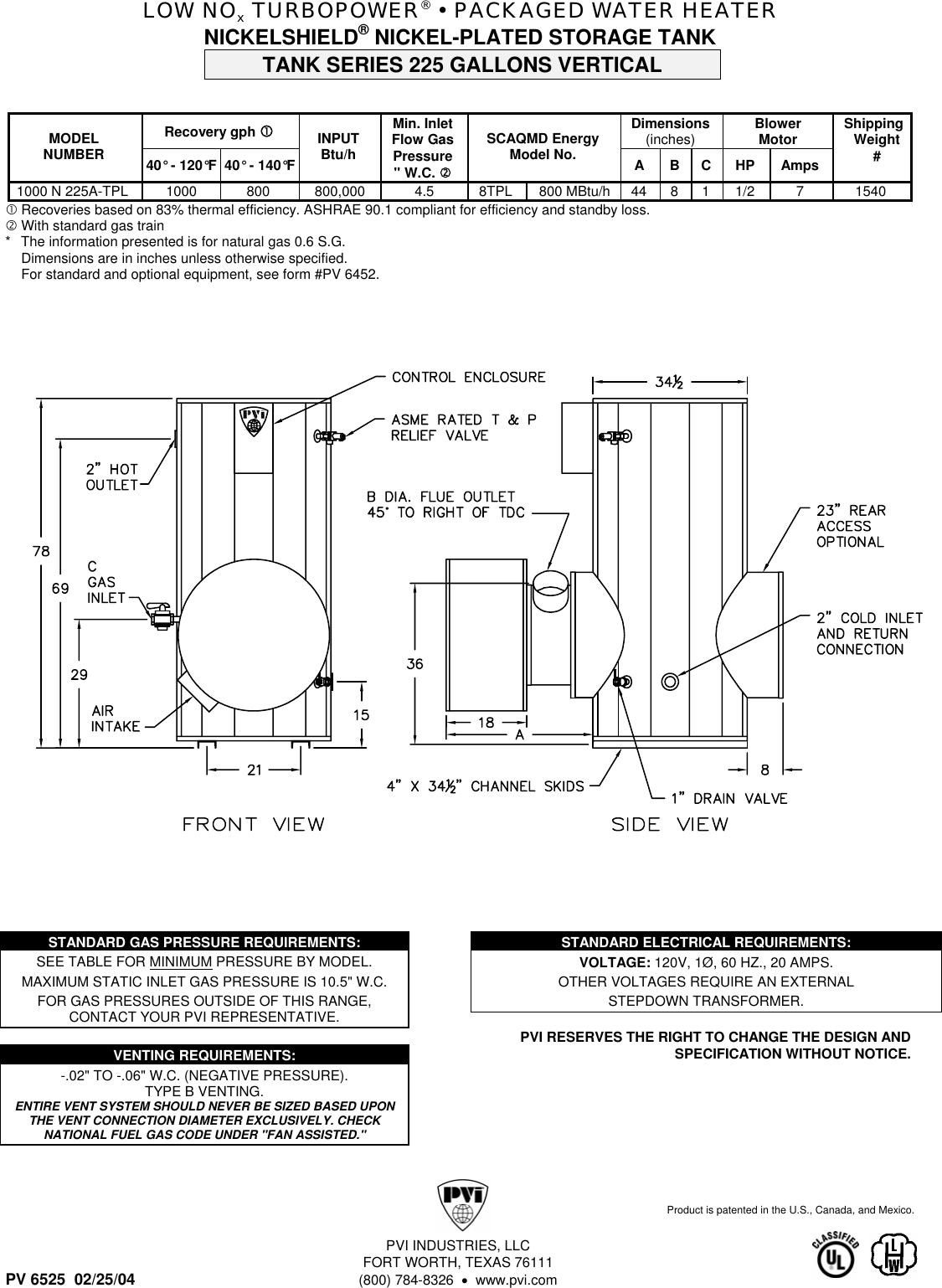 pvi industries 375p225a tpl users manual turbopower gas u2022 packaged rh usermanual wiki Pvis School Pvis Matthew Cartmill