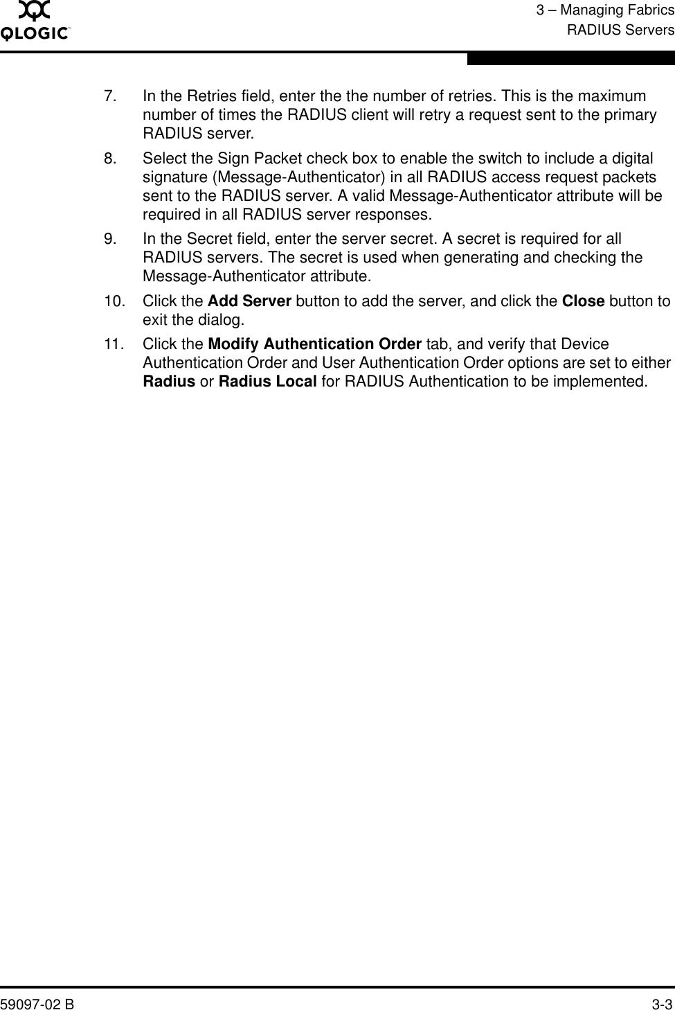 Q Logic 5600 Users Manual SANbox Series Switch Management