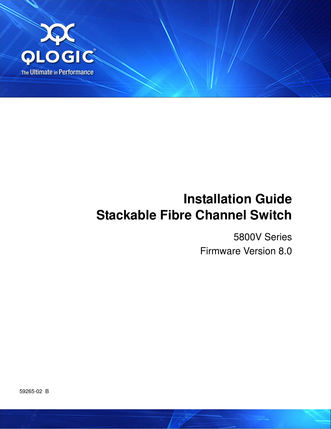 Q Logic 5800v Users Manual Qlogic Series Stackable Fibre Channel Switch Wizard 3way Electrical Wiring Tester Installation Guide