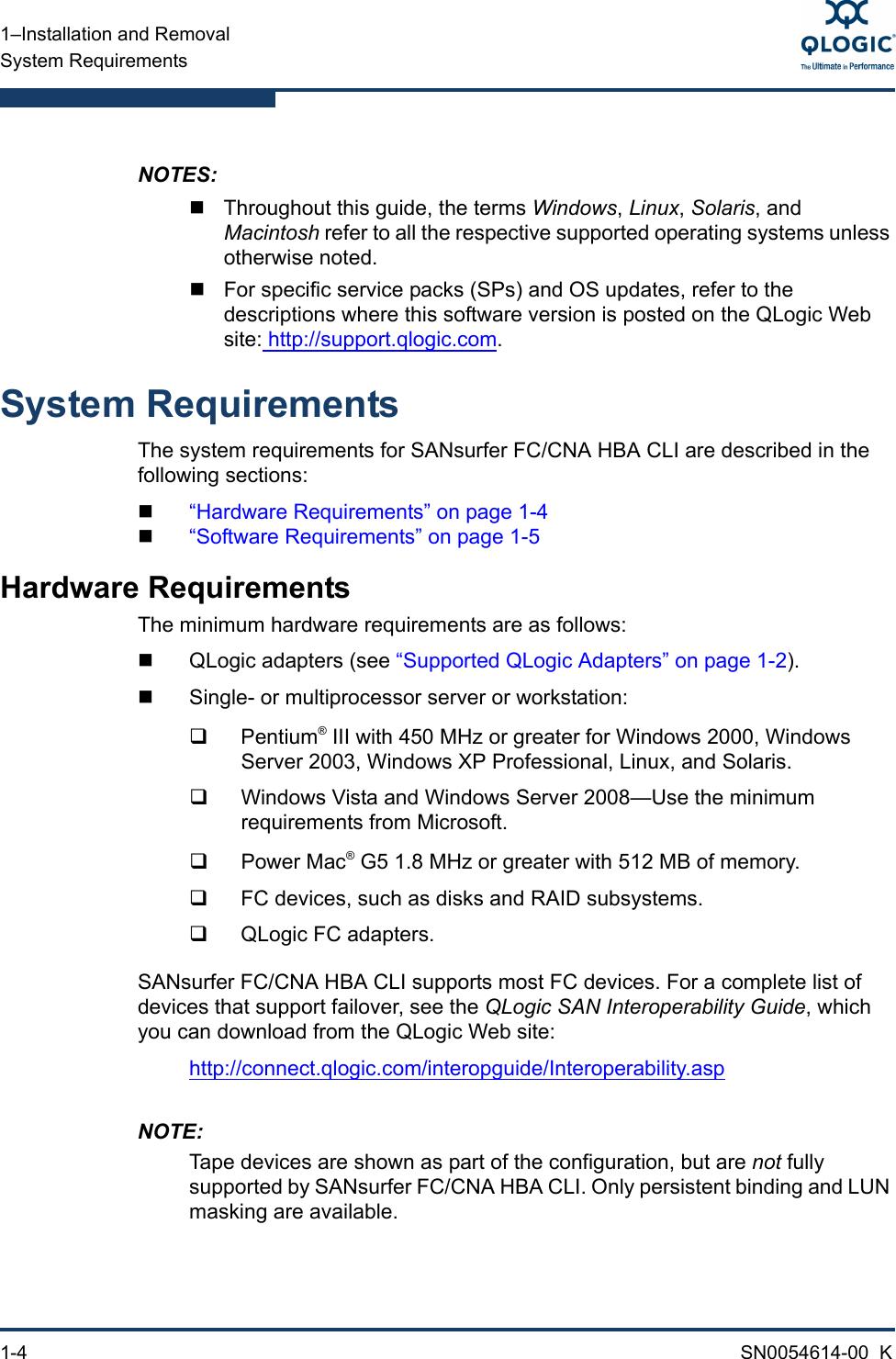 Q Logic Fc Users Manual SANsurfer FC/CNA HBA CLI User's Guide