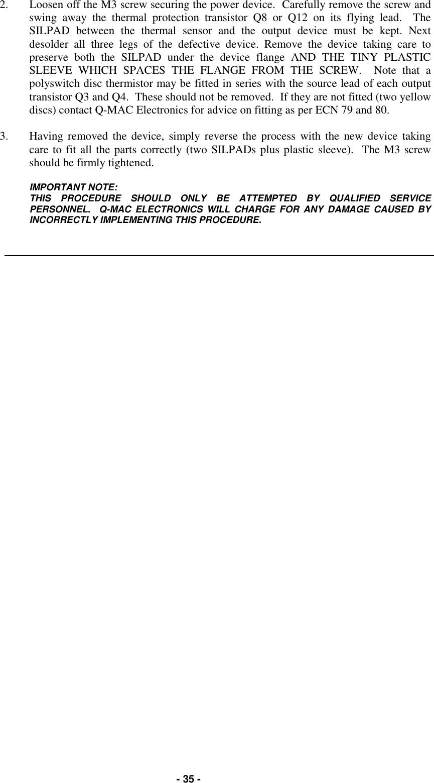 Q MAC Electronics HF90 HF-90 User Manual Technical manual
