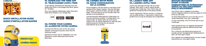 QUADRANT TECHNOLOGY C356712 MinionCam User Manual Minion Cam
