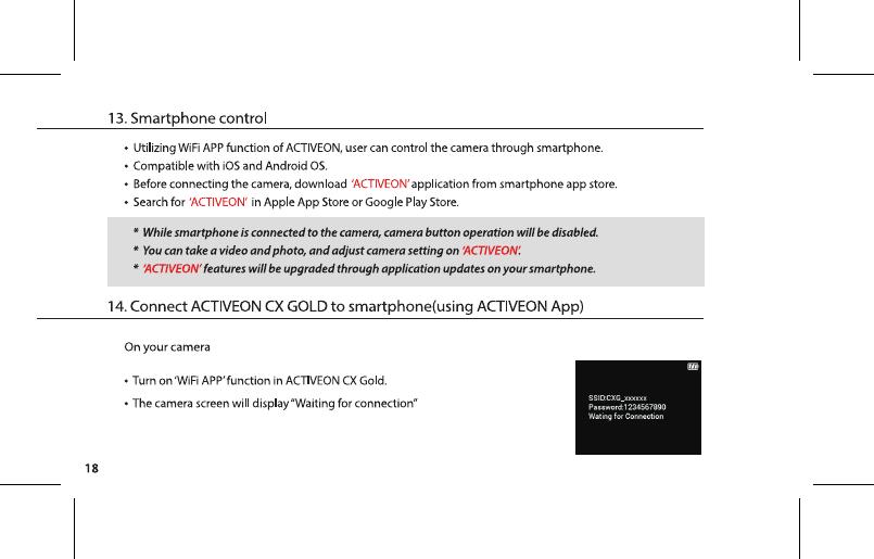 Qiyue Optronics Gcx01 Action Camera User Manual 0921 Activeon Cx Gold Um 3lang Final Outline