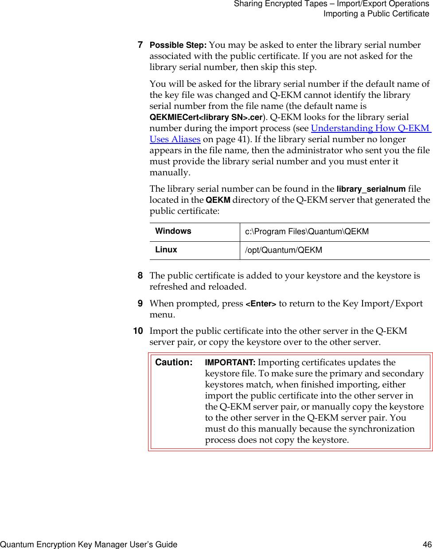 Quantum Q Ekm Users Guide Encryption Key Manager (Q EKM) User's