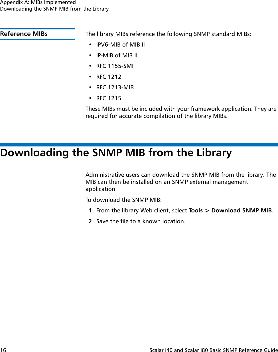 Snmp Mib Library