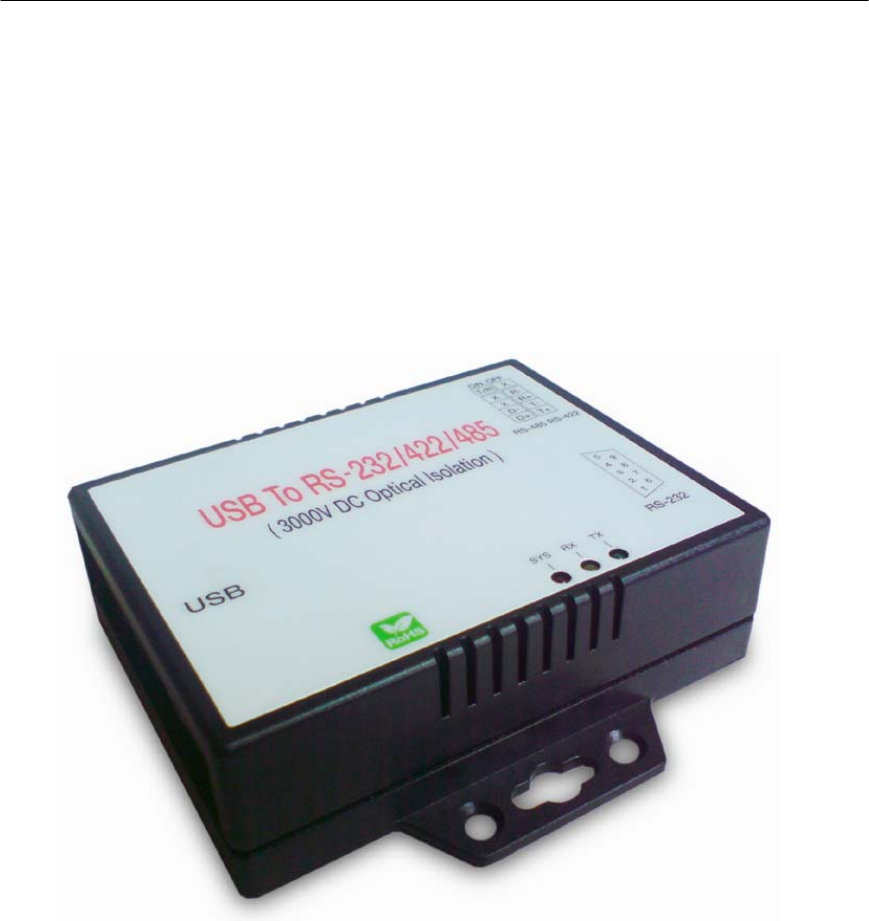 Quatech Usb To Rs 232 422 485 Isolated Converter Ssu2 400I Users Manual