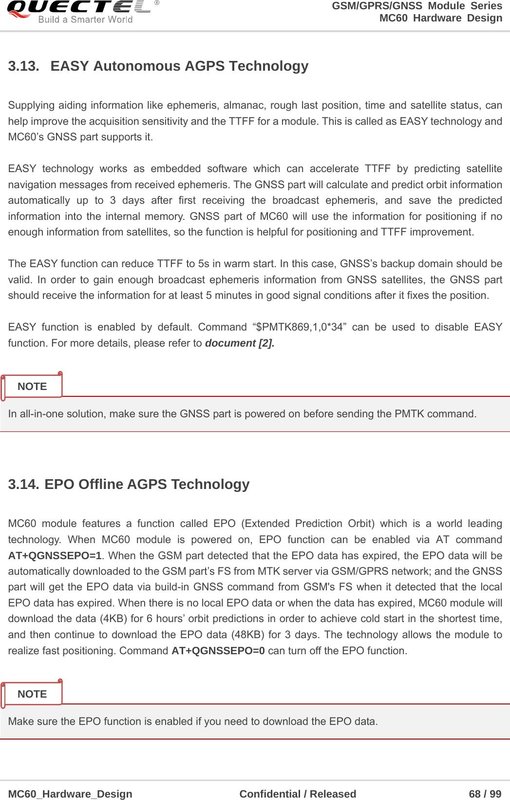 Quectel Wireless Solutions 201609MC60 GSM/GPRS/GNSS Module User Manual