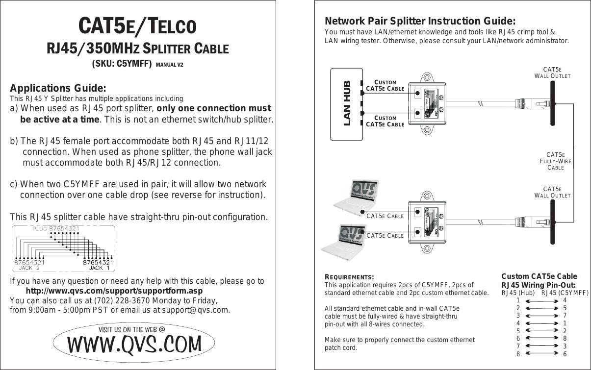 Qvs Log Splitter C5ymff Users Manual Rev2 Reverse Network Wall Jack Wiring