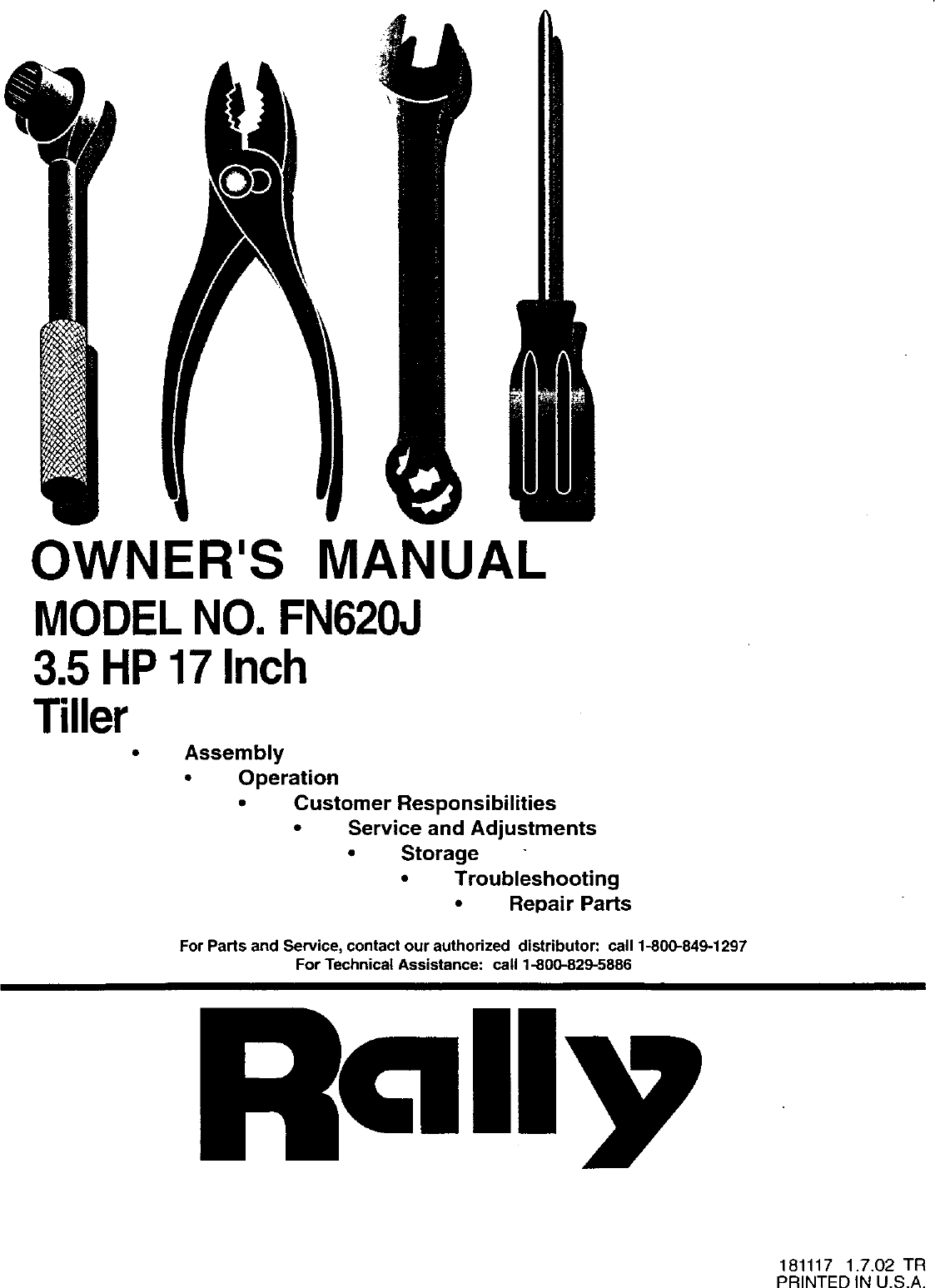 Craftsman 750256060 Front Manual Guide