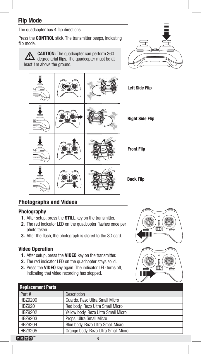 RC LEADING TOYS FACTORY 101 2 4G camera drone User Manual 18