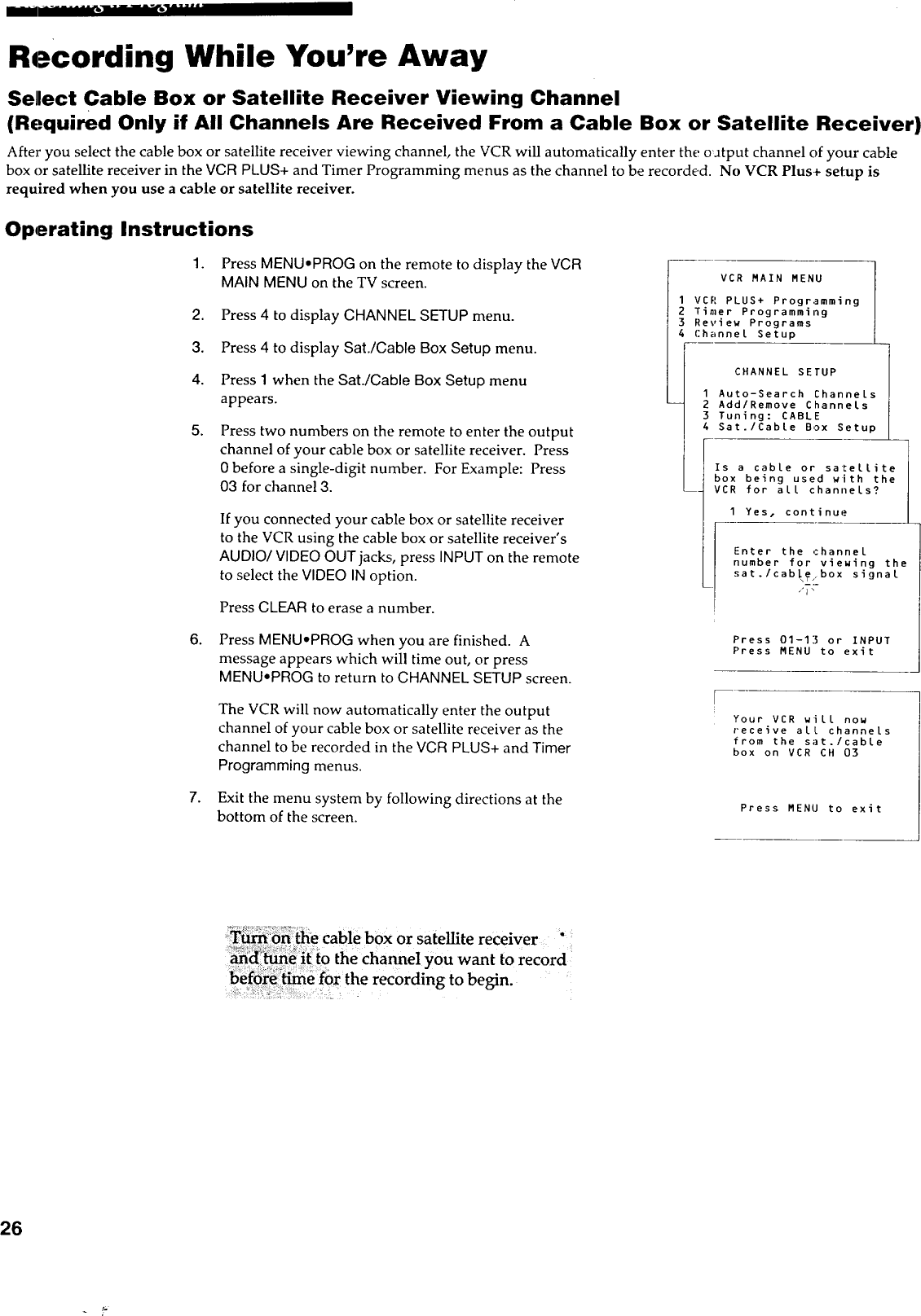 RCA VCR Manual 97120016