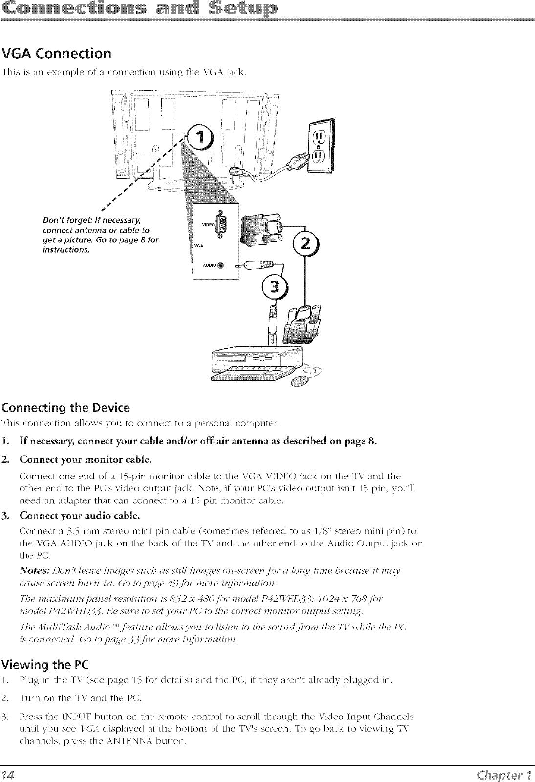 RCA Plasma Television Manual L0701487
