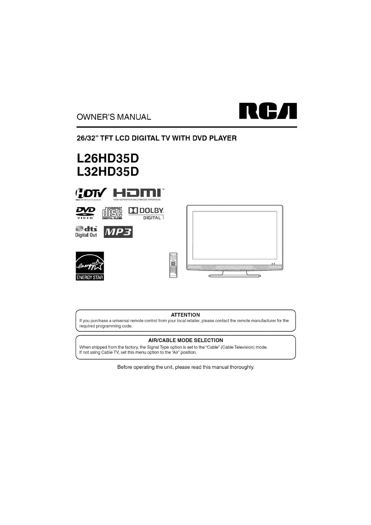 rca tv hook up diagrams rca l32hd35d user manual lcd television manuals and guides l0908740  rca l32hd35d user manual lcd television