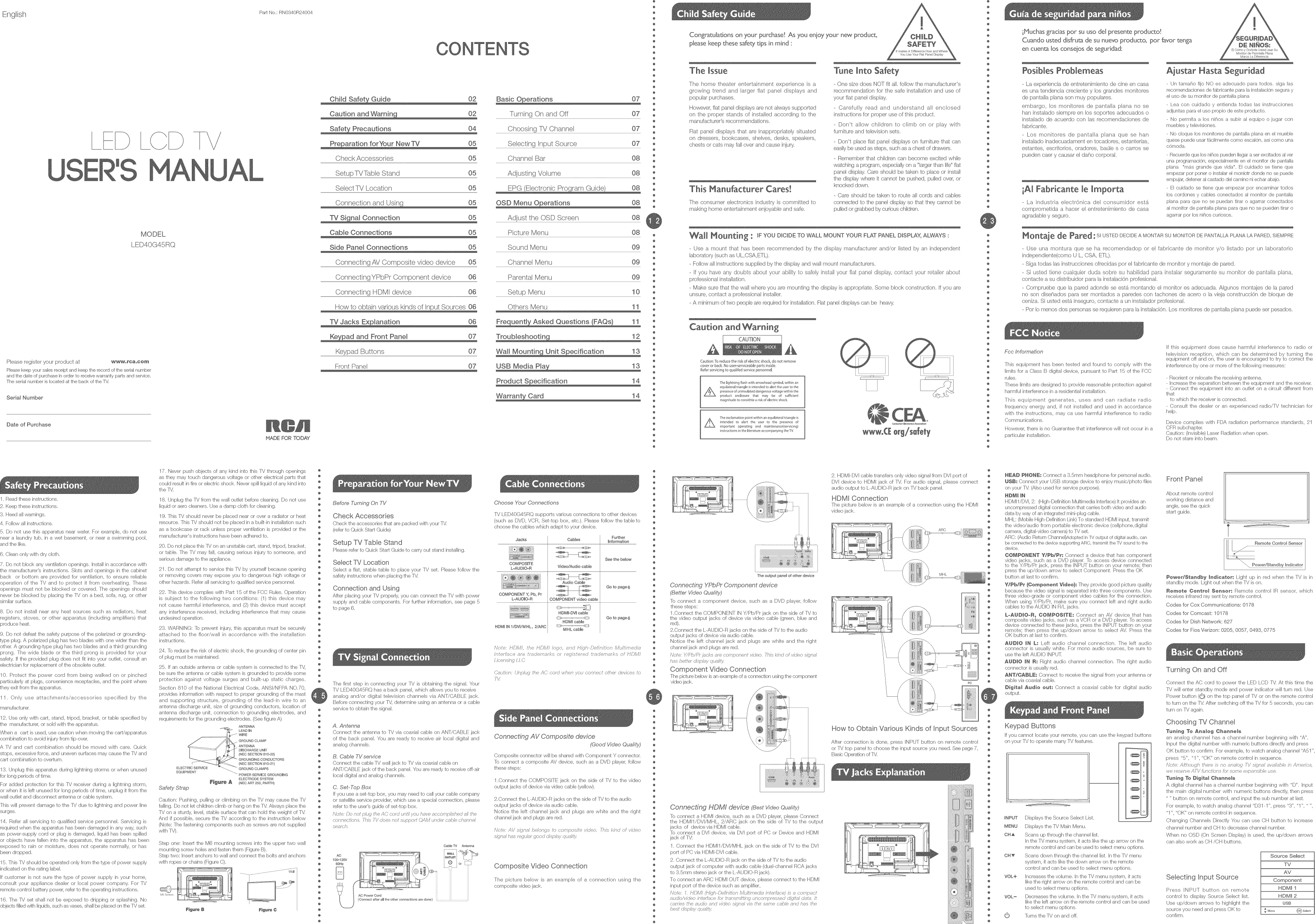Rca Led40g45rq User Manual Led Tv Manuals And Guides 1405186l