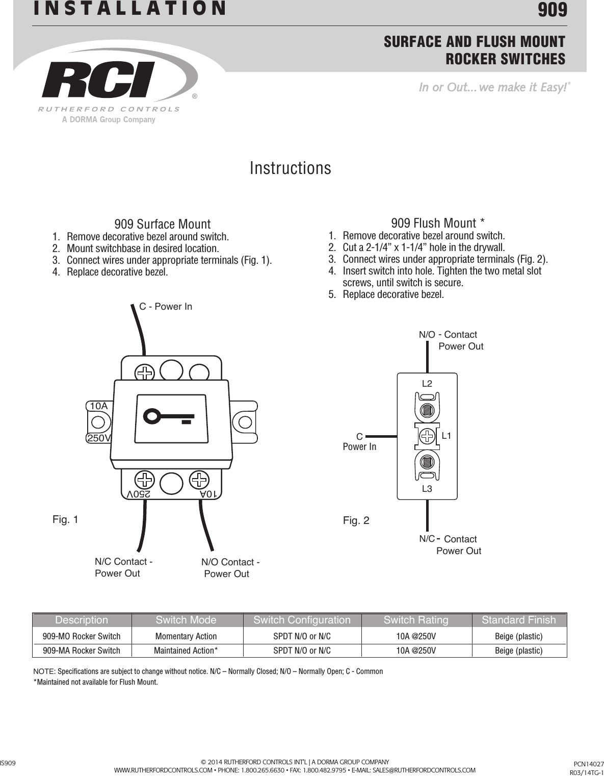 Emergency Test Switch Installation Manual Guide
