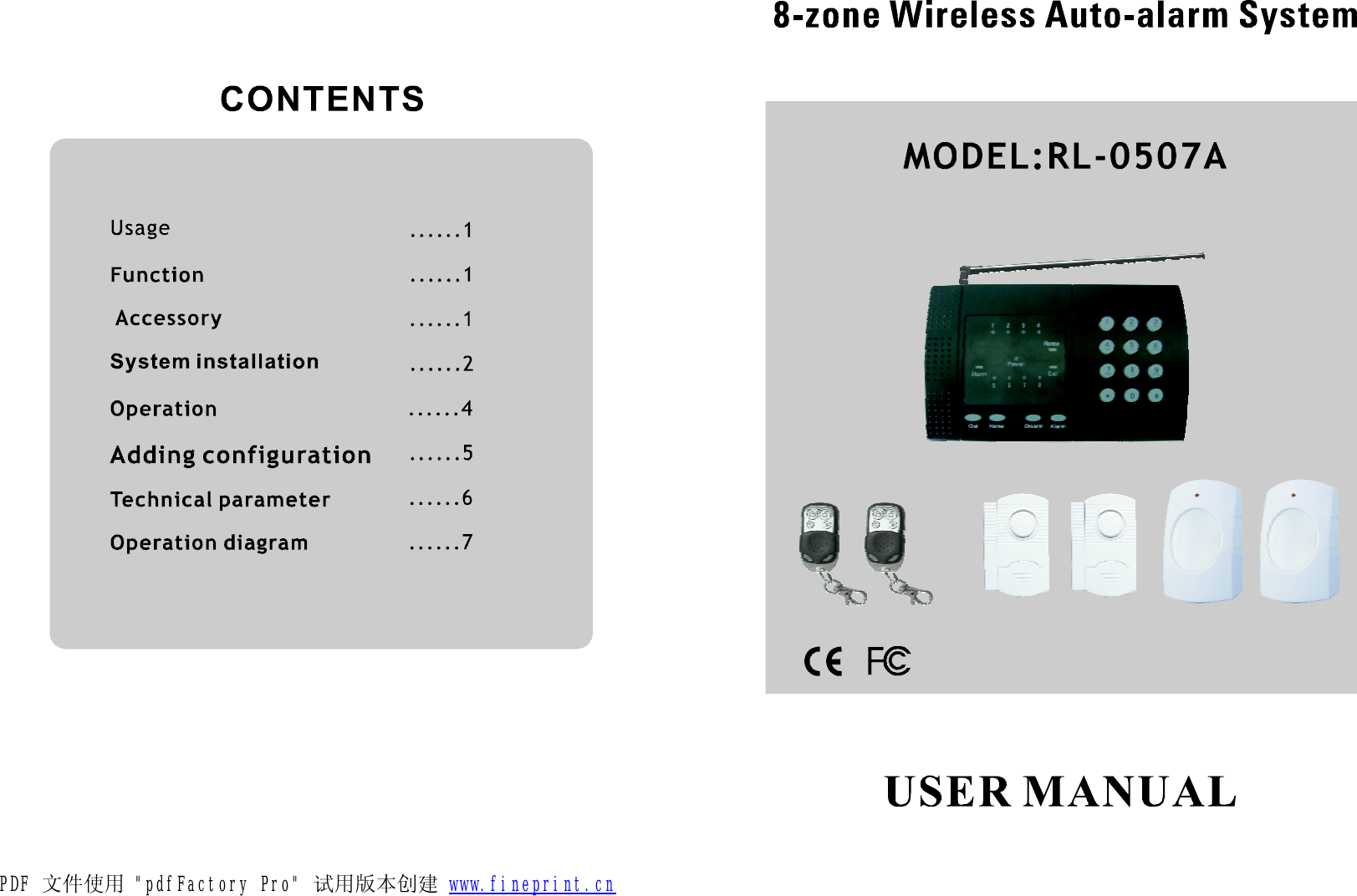 Roule Electronics Rl R5 Wireless Alarm Kit User Manual 0507a Automate Car Wiring Diagram