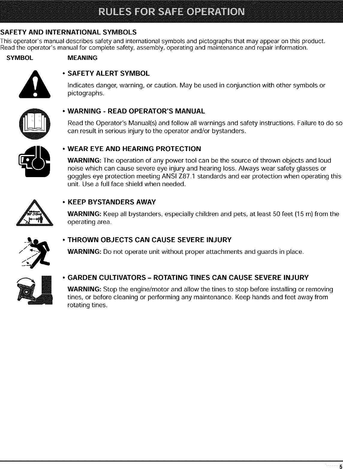RYOBI Cultivator Manual L0403049