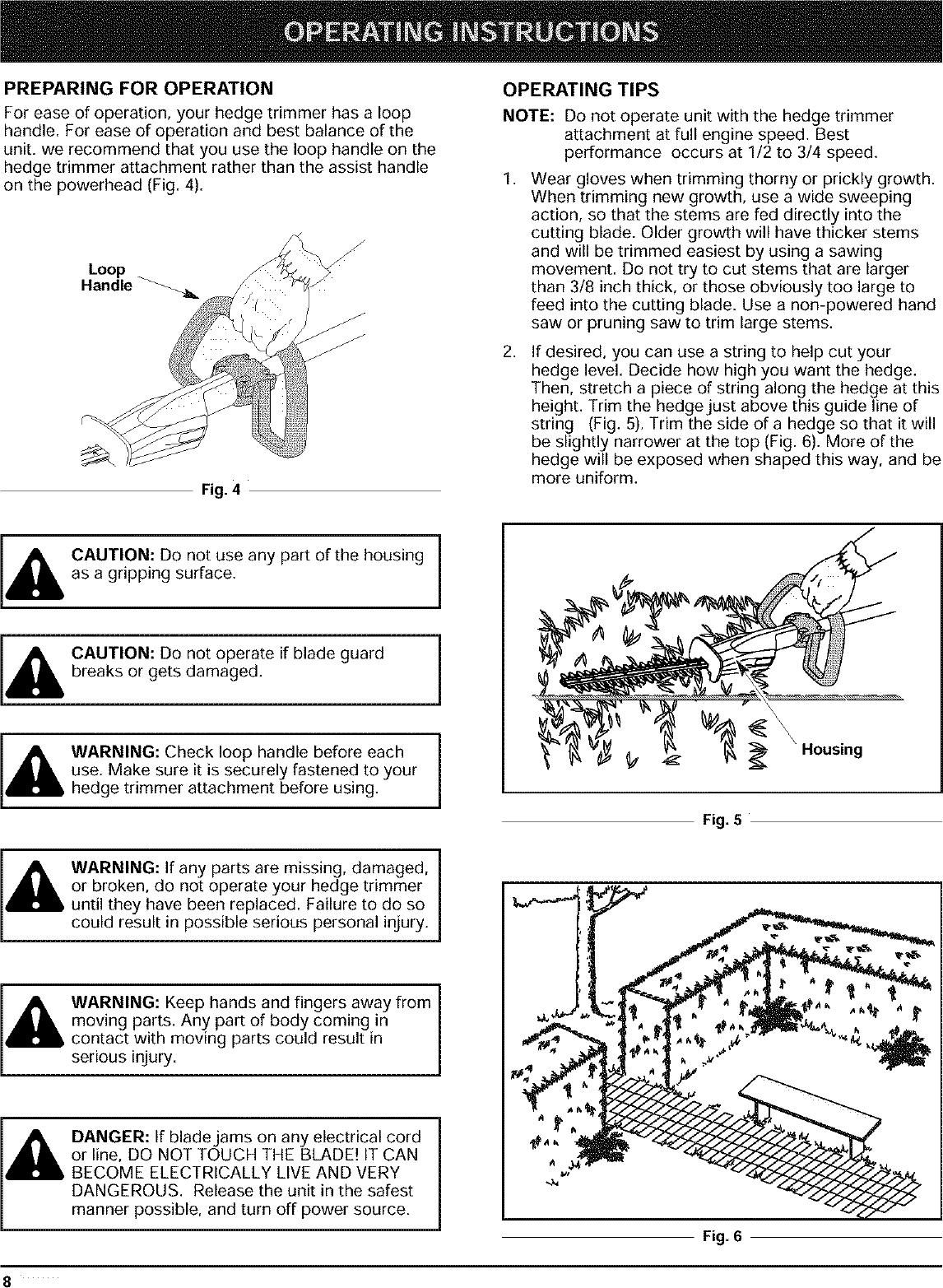 RYOBI Hedge Trimmer, Gas Manual L0403050