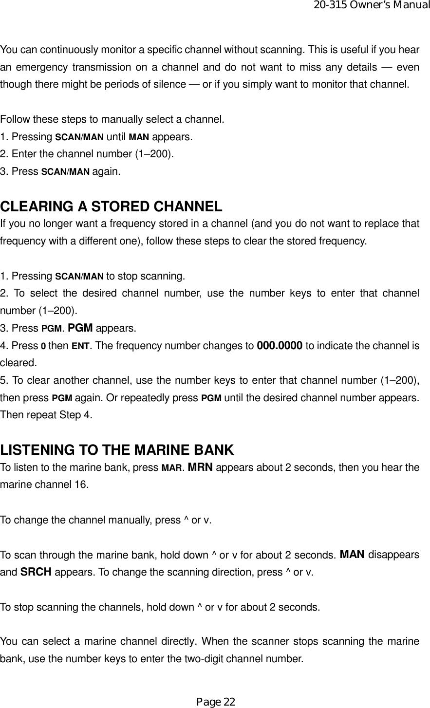 Radio Shack 2000315 Scanning Receiver User Manual Owner s