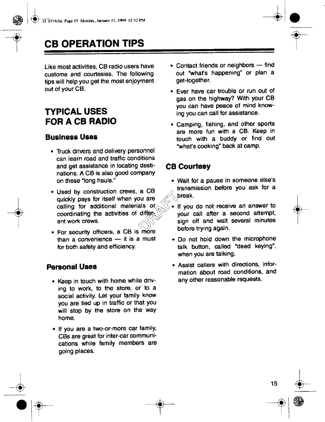 Radio Shack 2101574 User Manual 30720