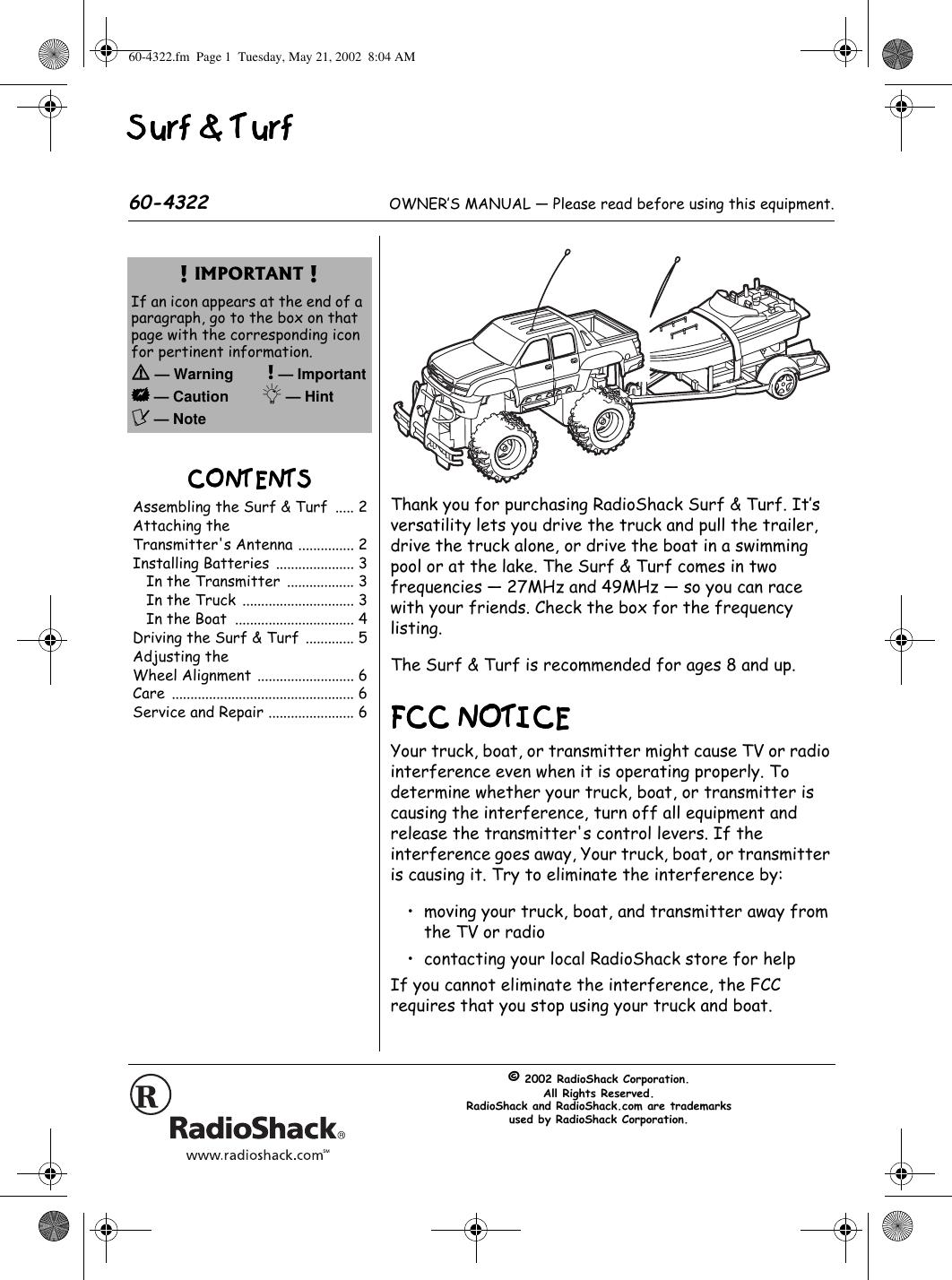 radio shack 6004322r1 remote control toy receiver user manual www rh usermanual wiki radio shack scanner user manual radio shack user guide 33-2055