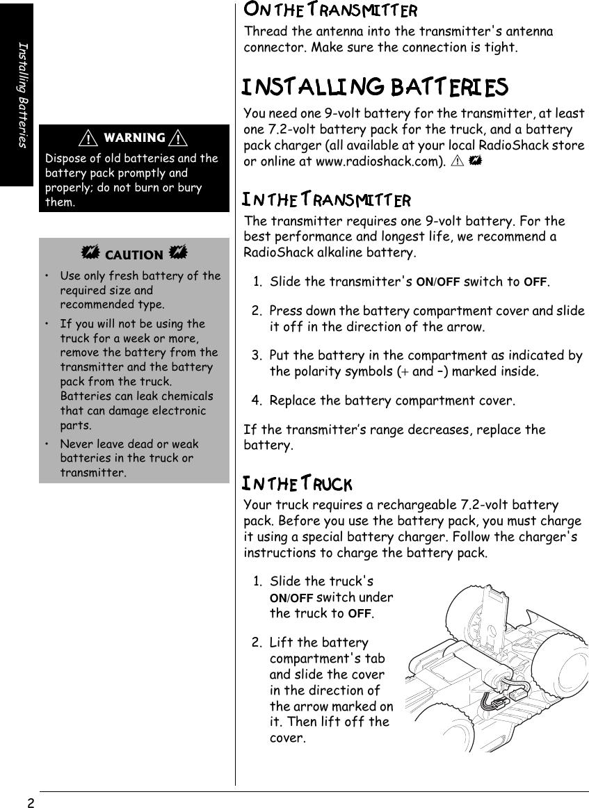 Radio Shack Ford F 150 60 4335 Users Manual Www RadioShack With CircleR