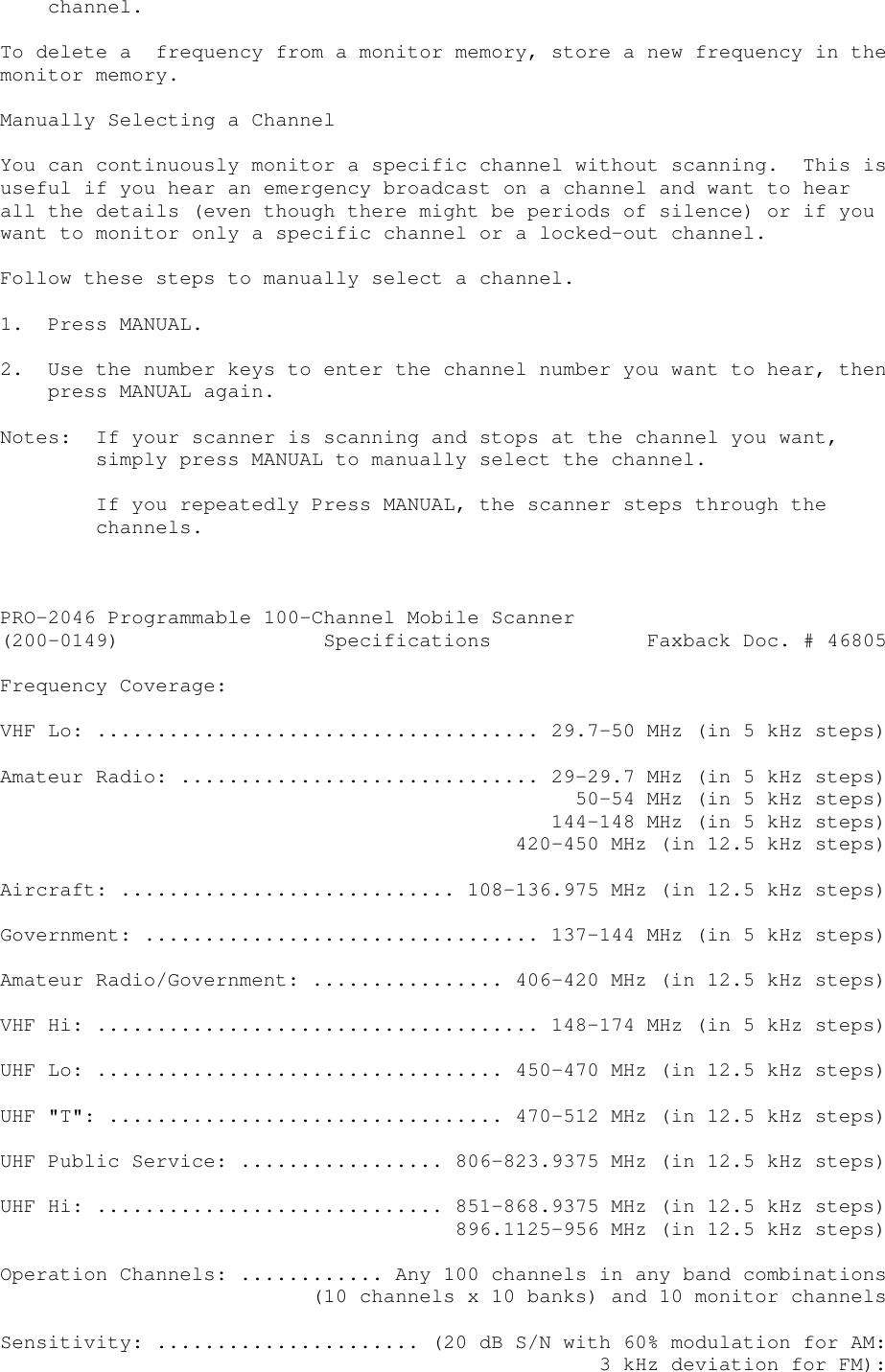Radio Shack Pro 2046 Users Manual New _2_