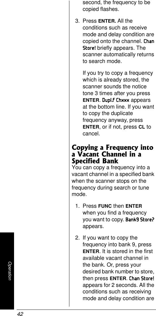 Radio Shack Pro 95 Users Manual 20 525