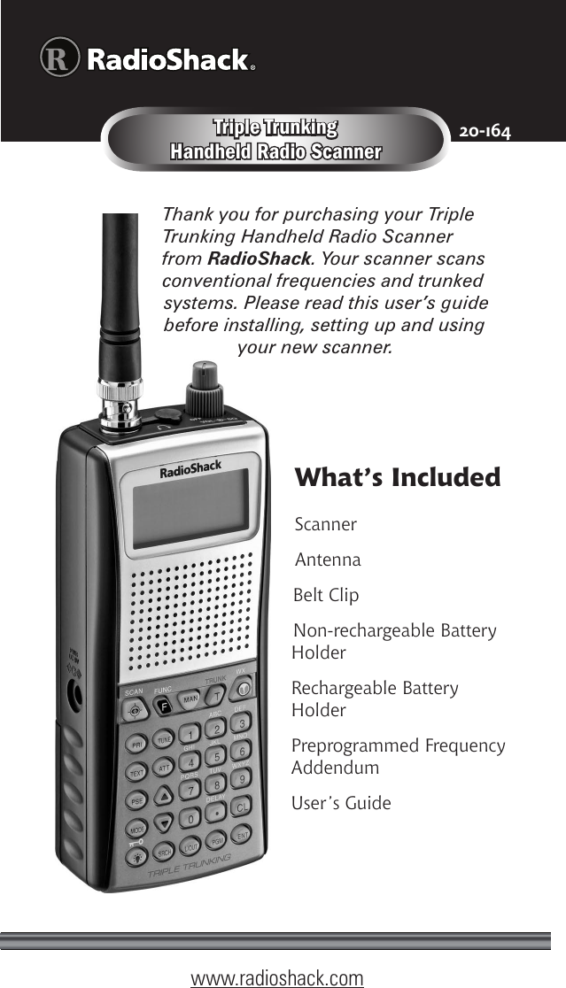 Radio Shack Police Scanner