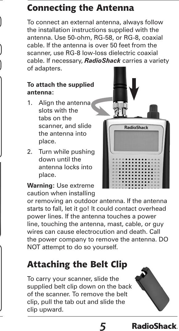 Radio Shack Scanner 20 164 Users Manual