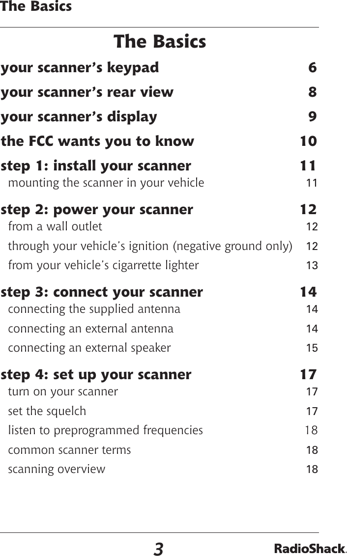 Radio Shack Scanner 20 426 Users Manual 352536 PRO 2051 Owners