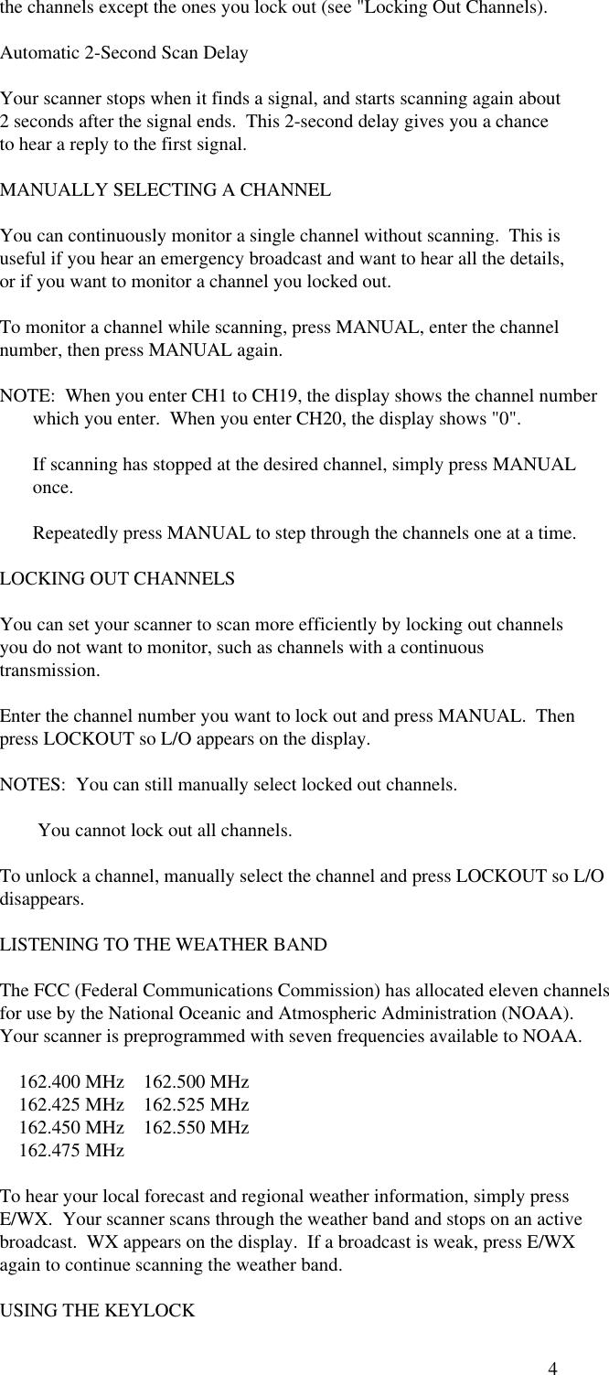 Radio Shack Scanner Pro 27 Users Manual