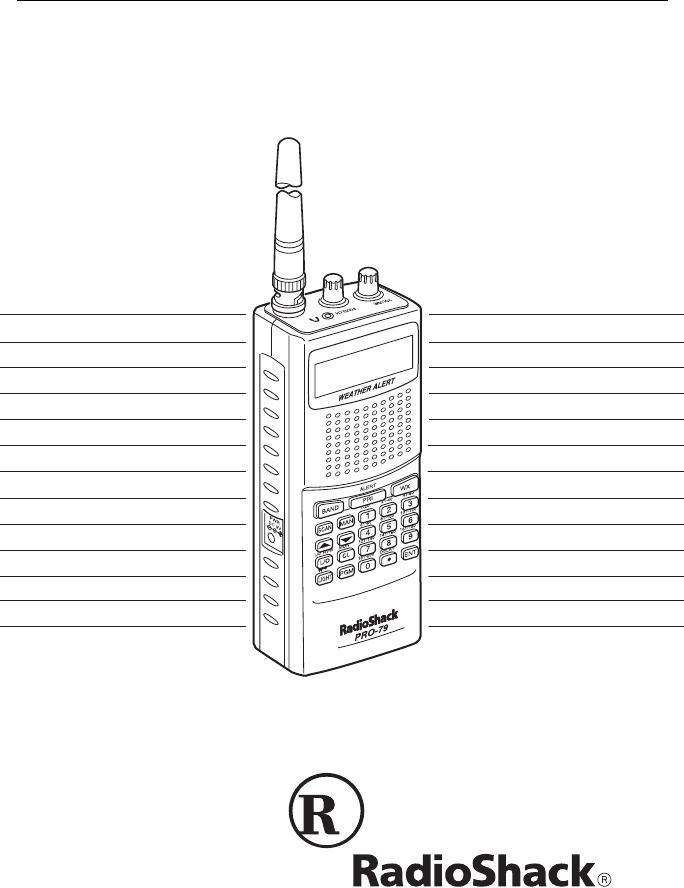 Radio Shack Scanner Pro 79 Users Manual Rsbl'dxni