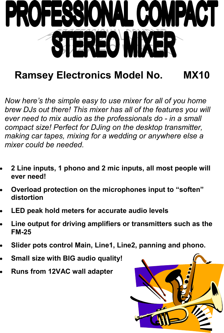 Ramsey Electronics Mx10 Users Manual Mx 10 Electronic Circuits Audio Power Meter Circuit With Lm3915