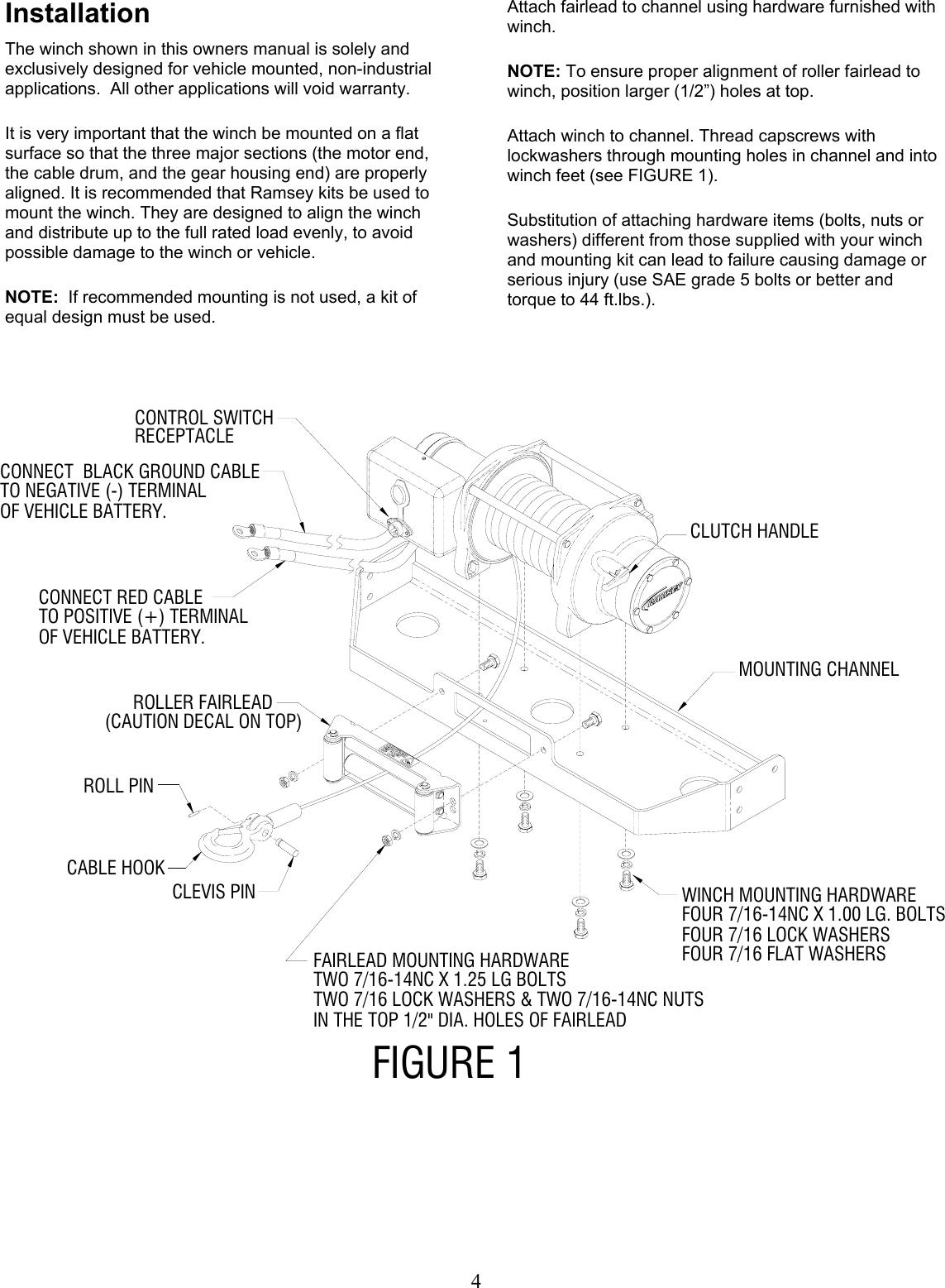 Wiring Diagram For Ramsey 15000 Lb Winch