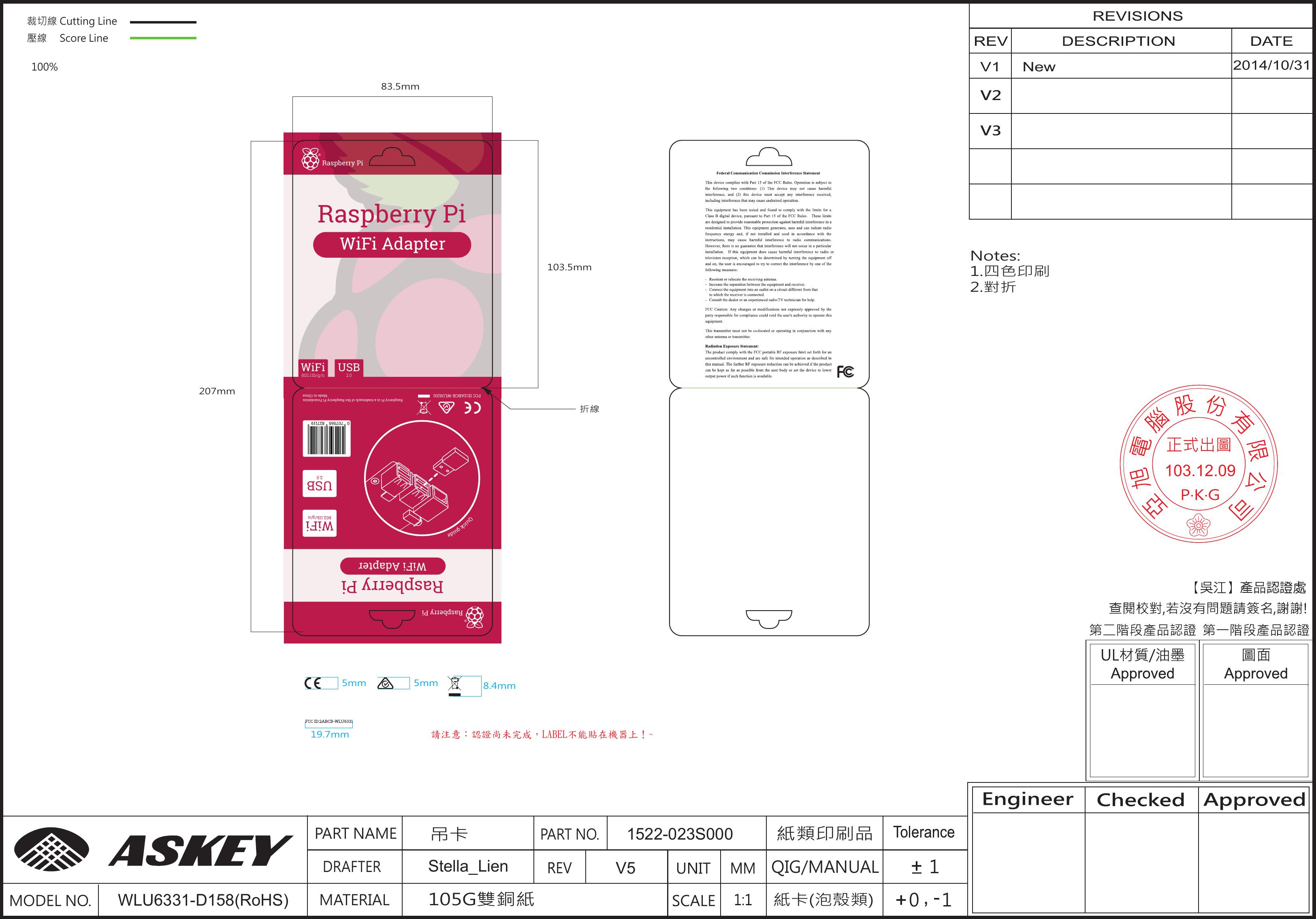 Raspberry Pi WLU6331 WiFi Adapter User Manual