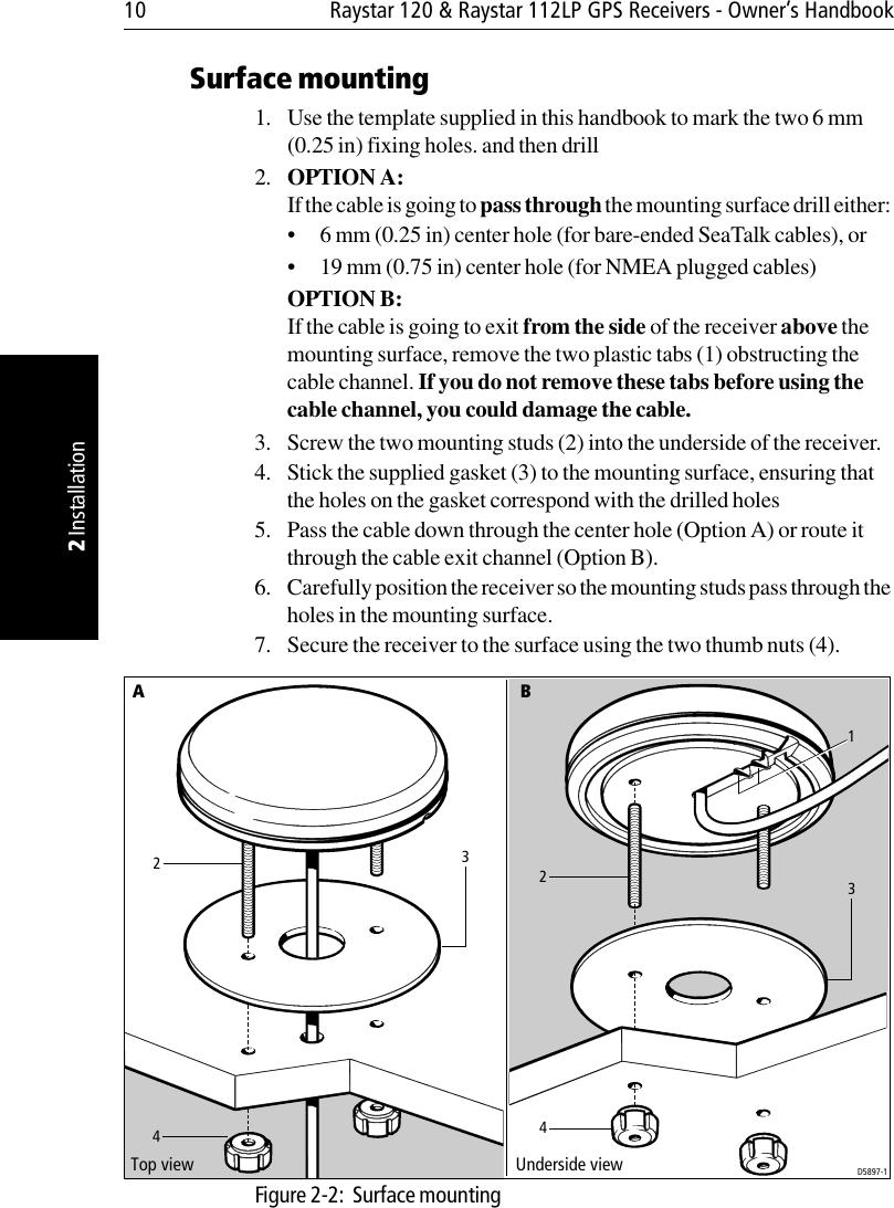 Raymarine Raystar 112lp Handbook 81203 1