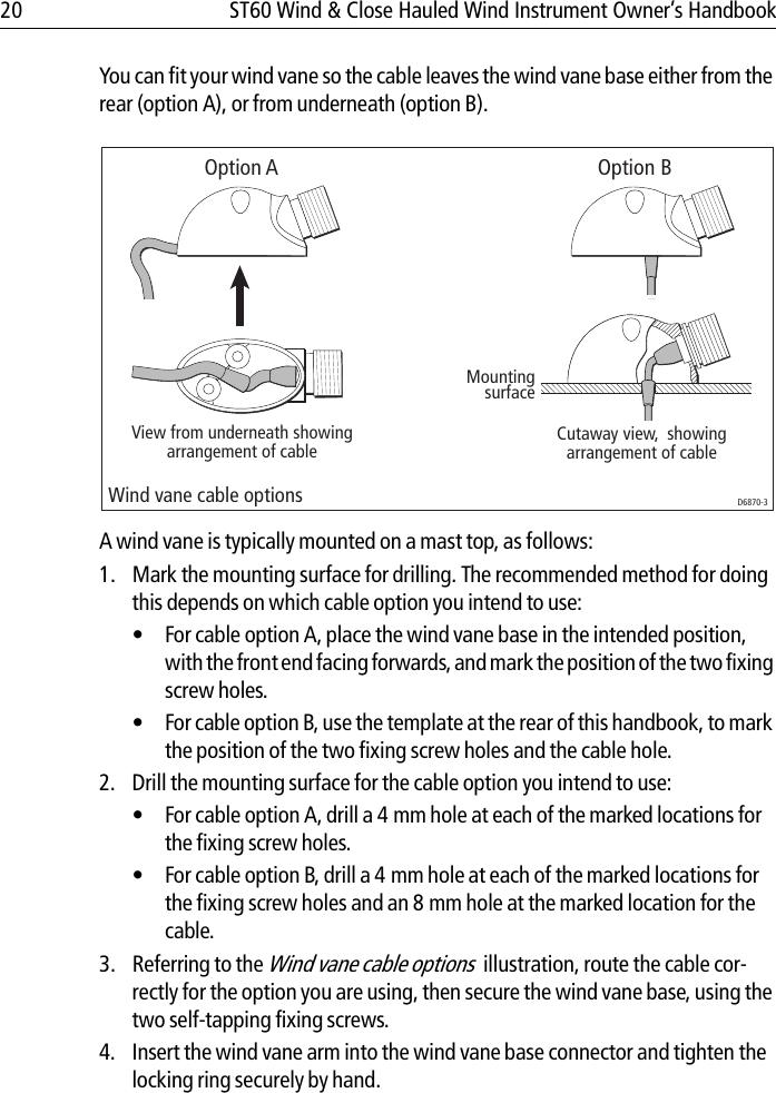 Raymarine Wind And Close Hauled Instrument St60 Users Manual