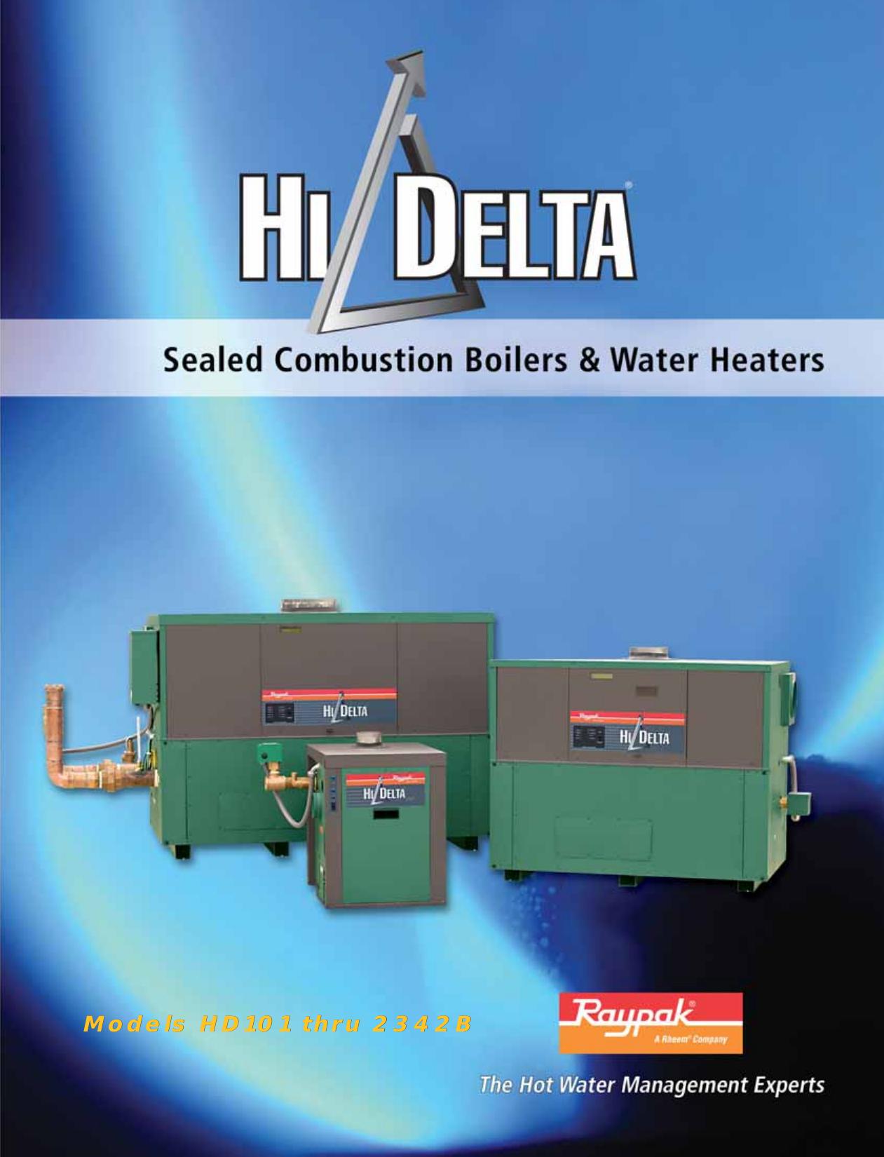 Raypak Hi Delta Hd101 Thru 2342B Users Manual