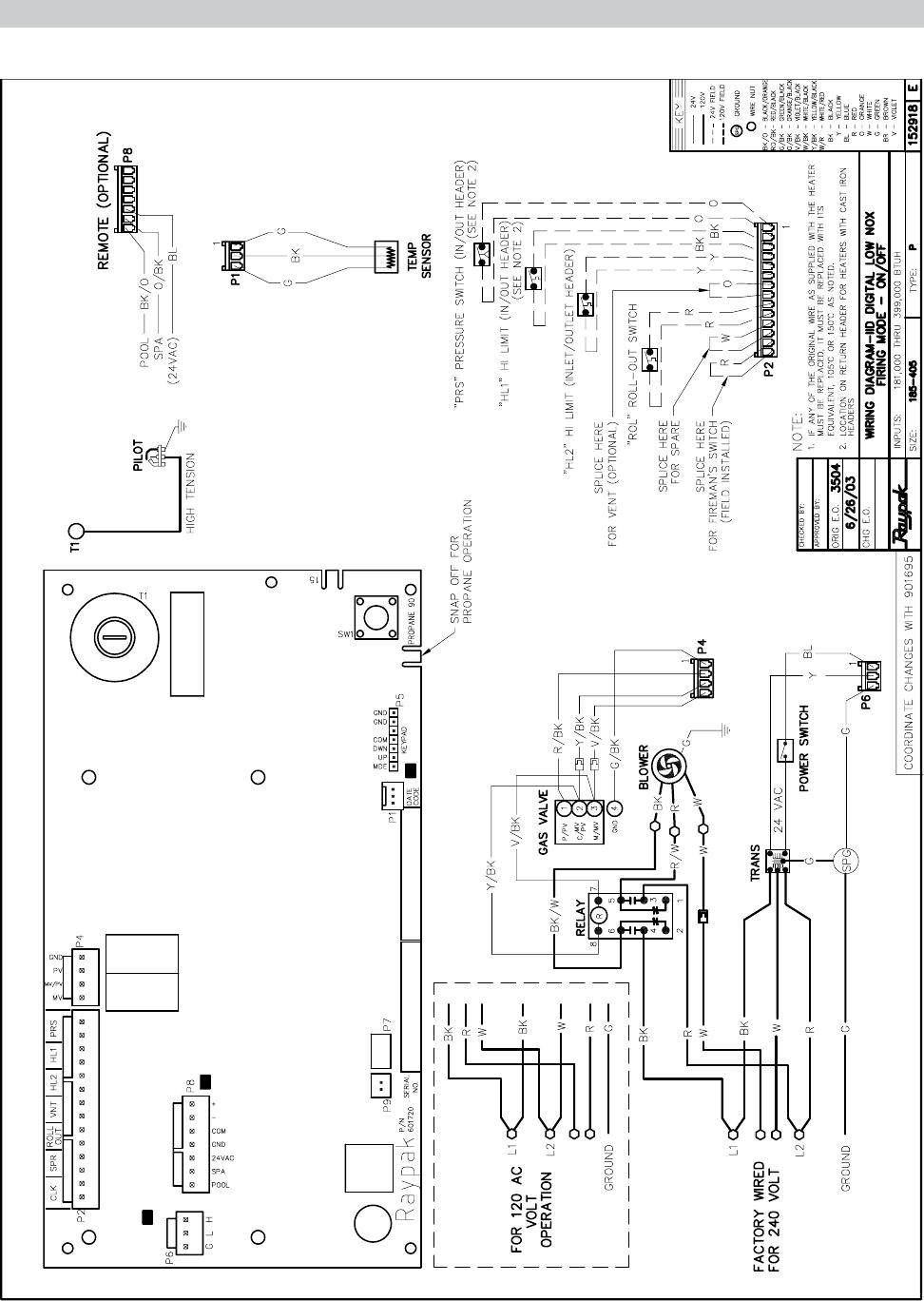 raypak wiring diagram wire center u2022 rh efluencia co Spa Pool Heater Raypak RP2100 Raypak RP2100 Pool Heater