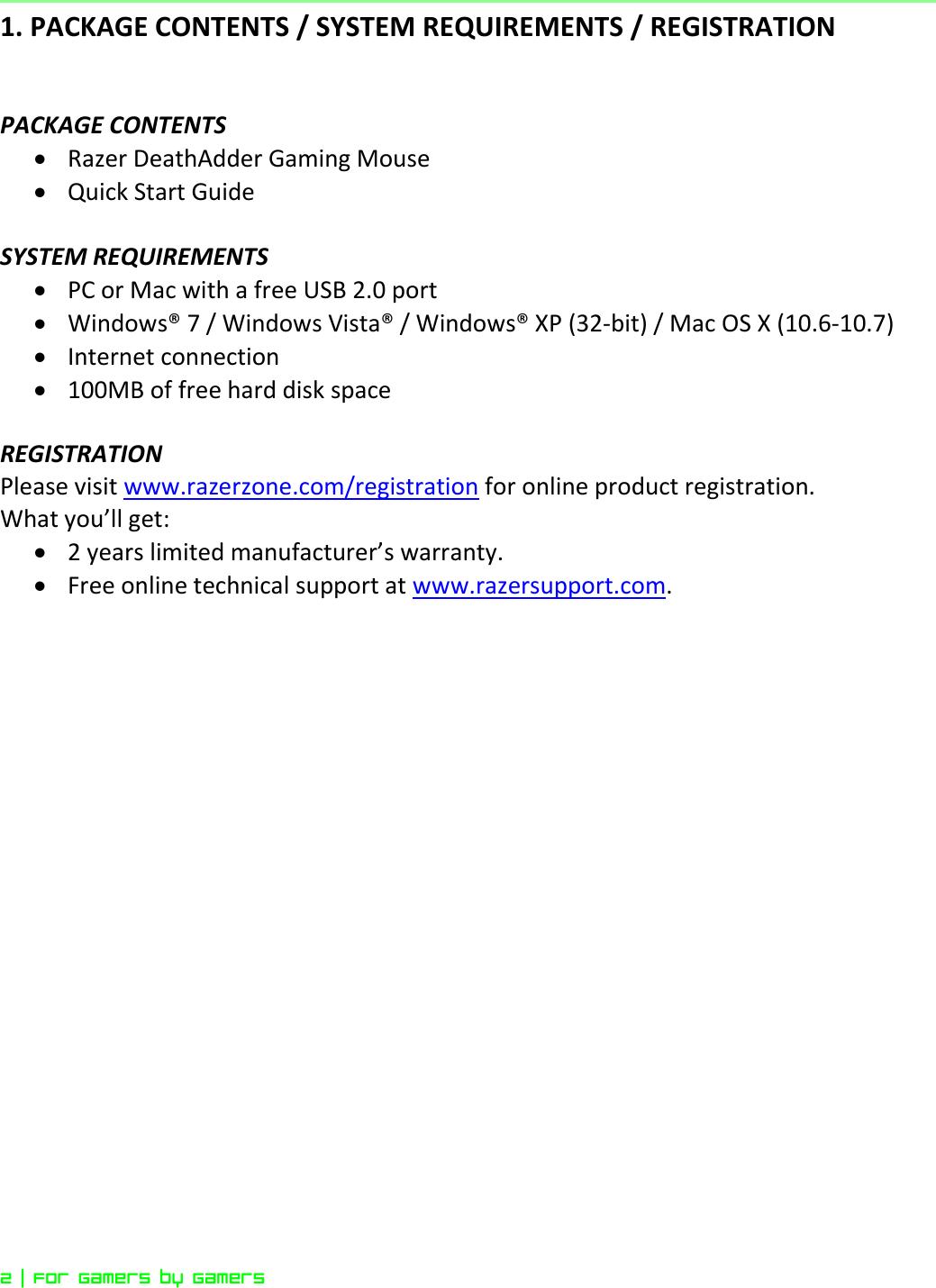 Razer Deathadder 2013 Owner S Manual Online Master Guide