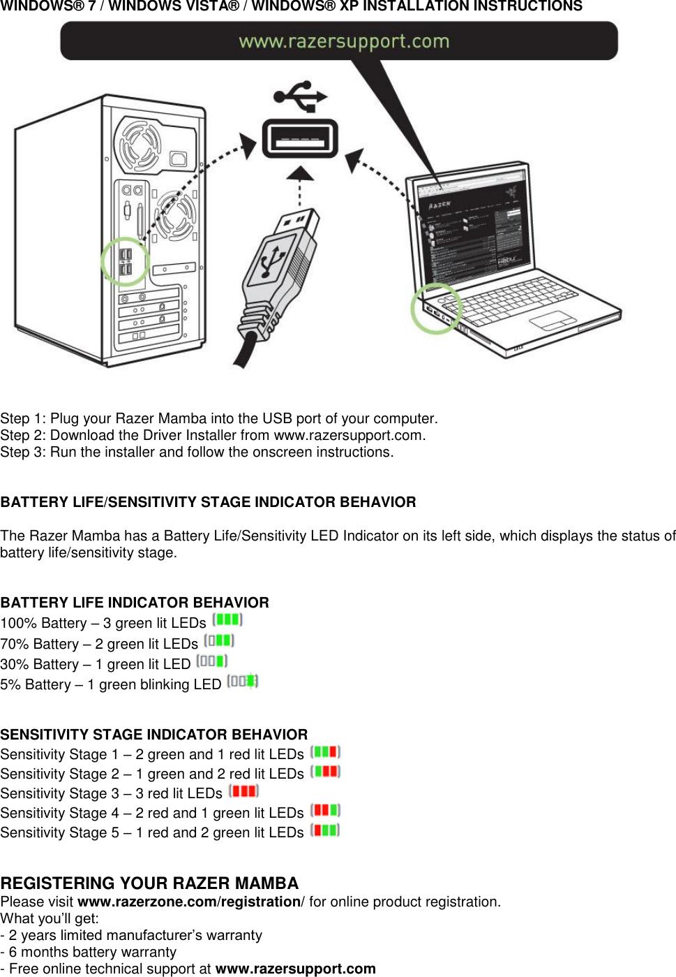 Razer Mamba 2012 Owner S Manual
