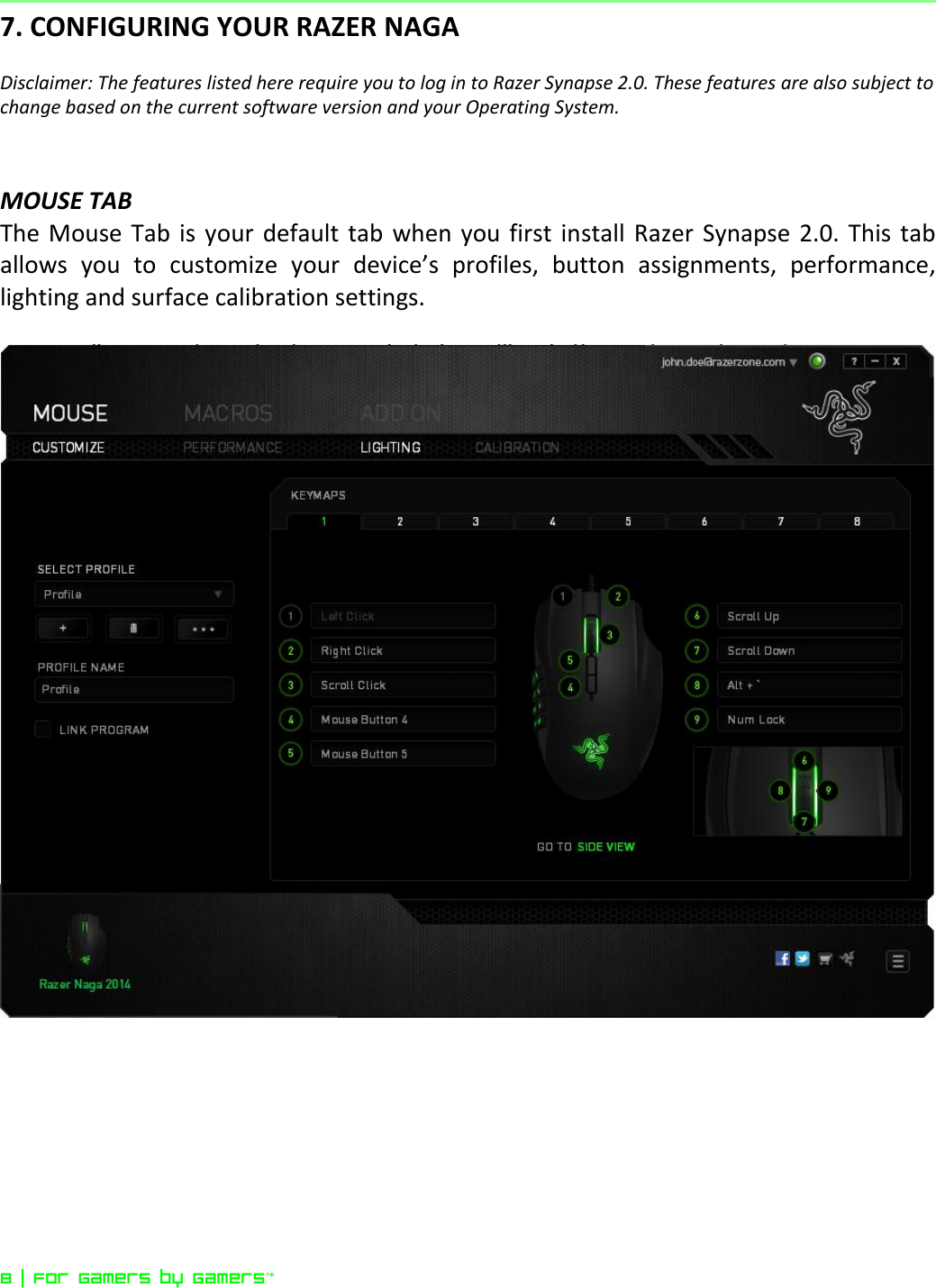 Razer Naga 2014 Owner S Manual Online Master Guide
