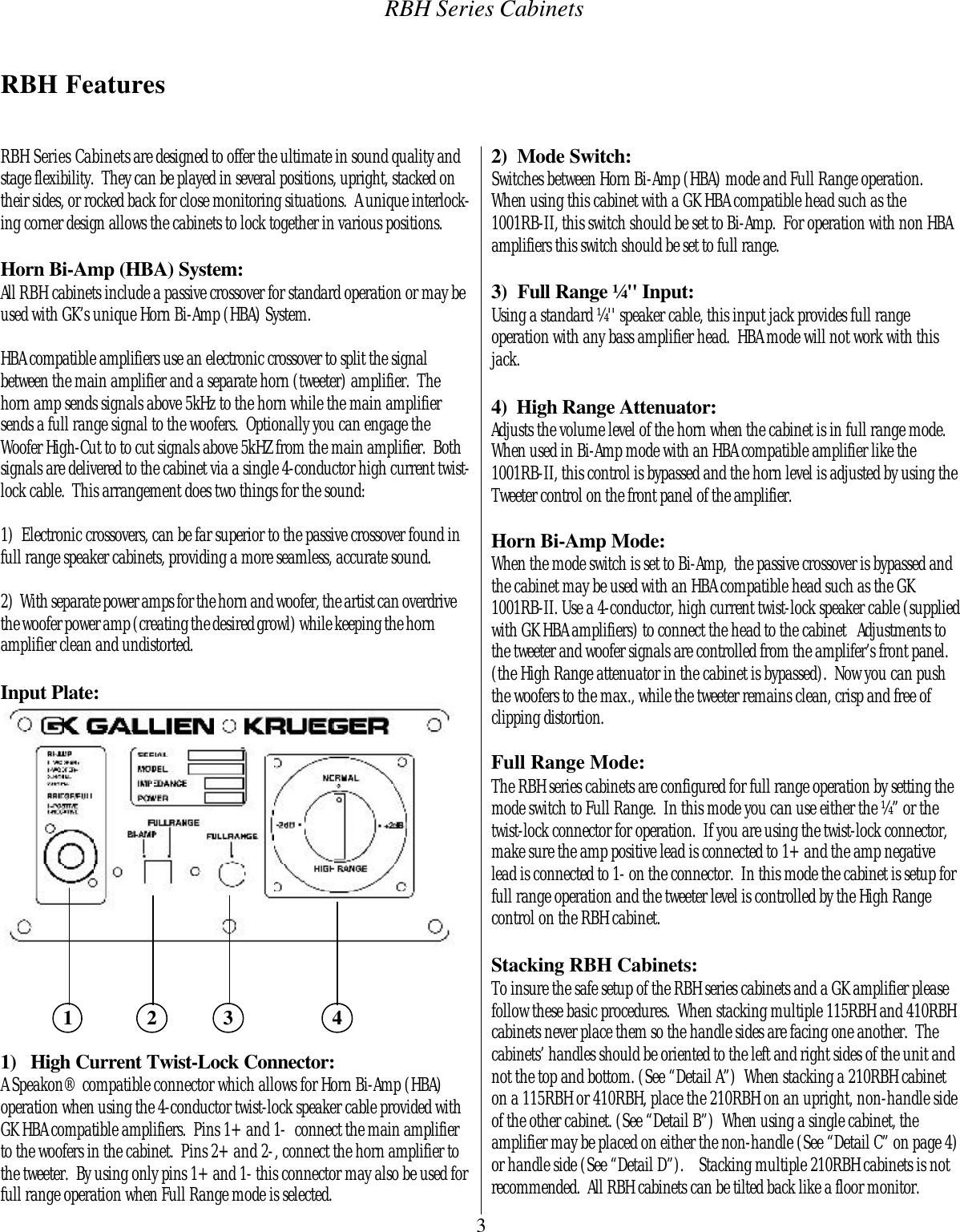 Rbh Sound 115Rbh Users Manual T