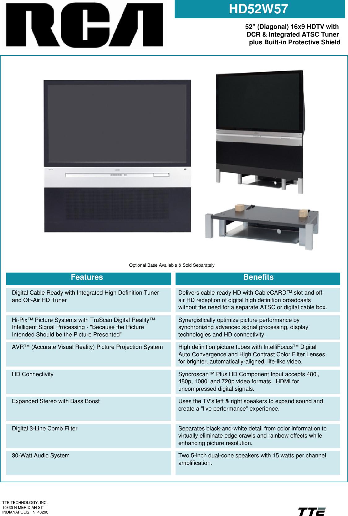 Rca Hd52W57 Users Manual