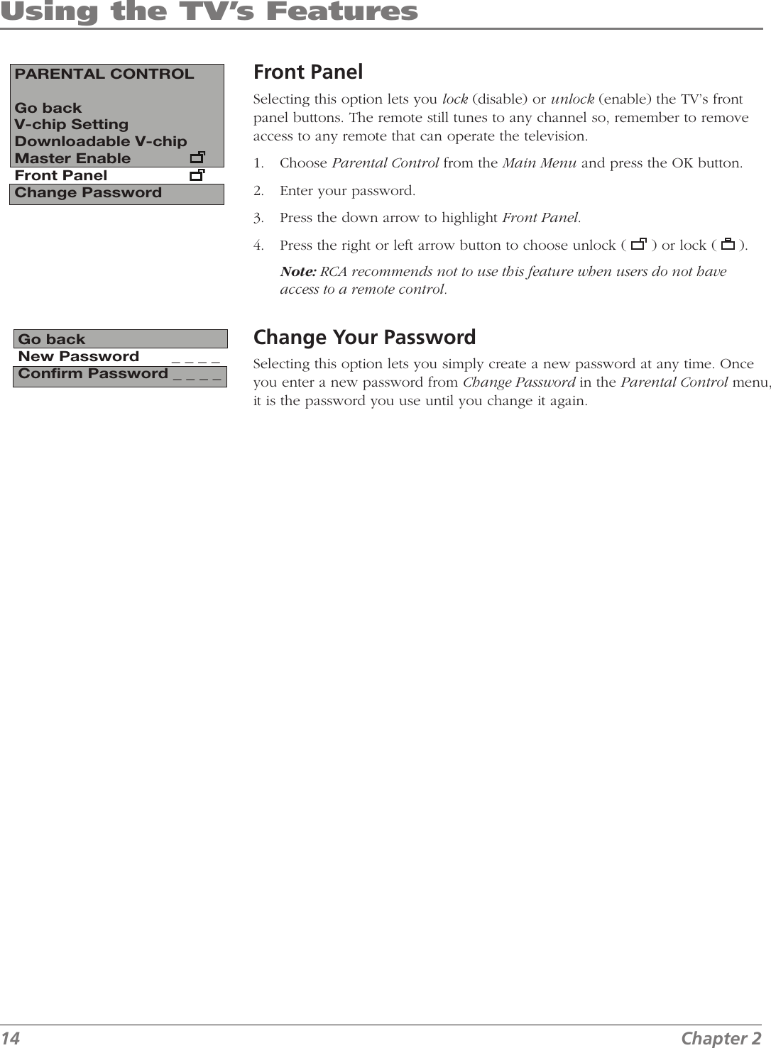 Rca J13804Cl Users Manual