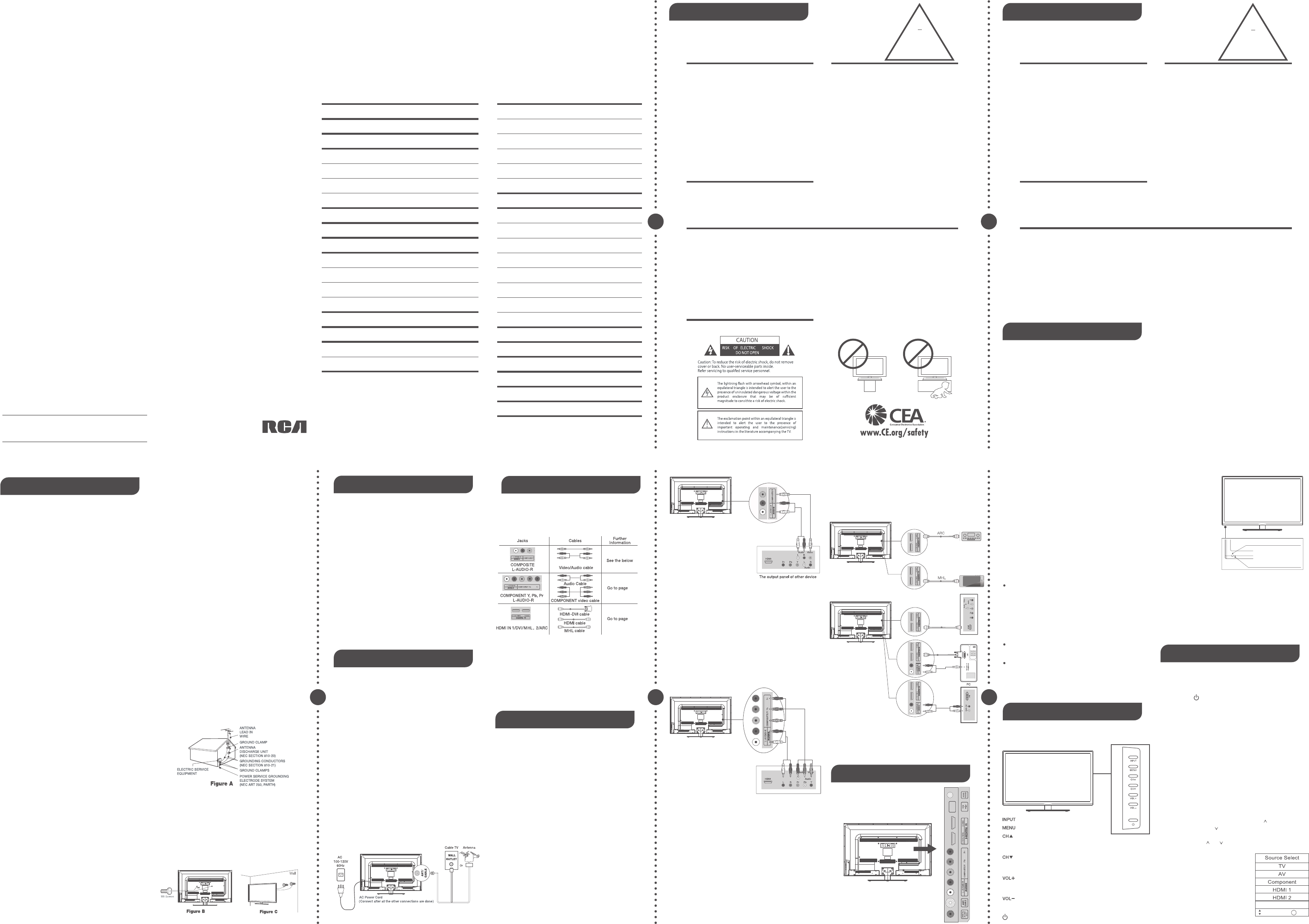 Rca Led42C45Rq Users Manual UM RN0342R0121 D42RWA01 D030709 on