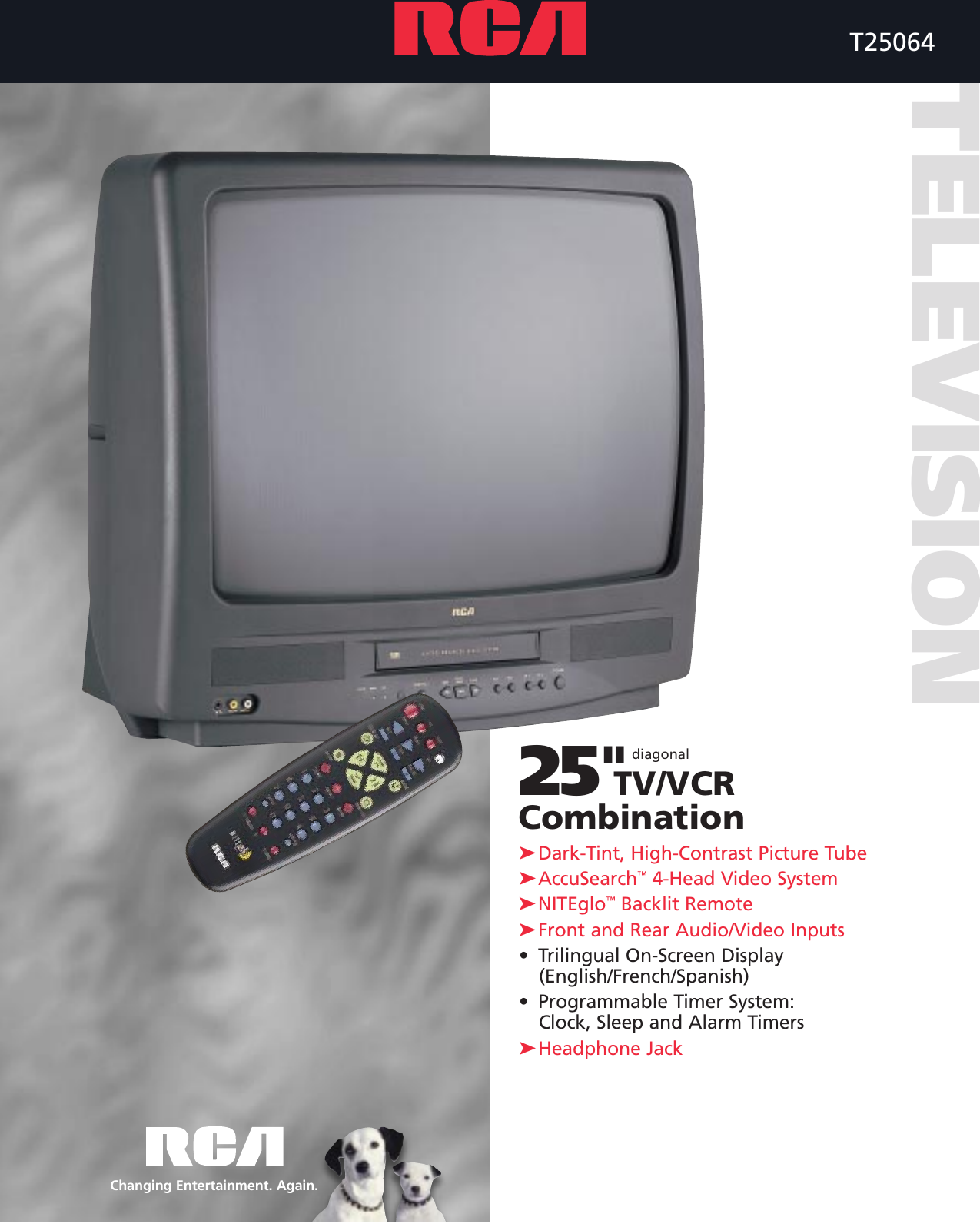 rca tv vcr combo users manual t25064 rh usermanual wiki Samsung VCR Sylvania VCR