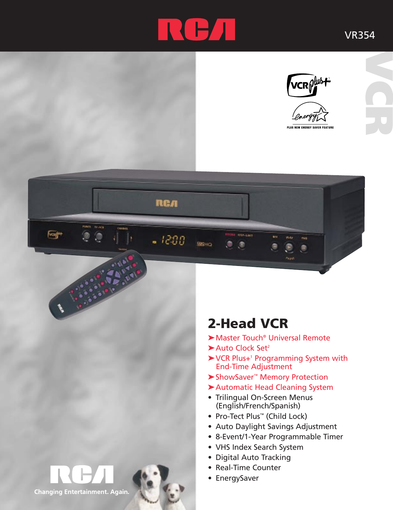 rca vcr vr354 users manual rh usermanual wiki VHS VCR Philips VCR